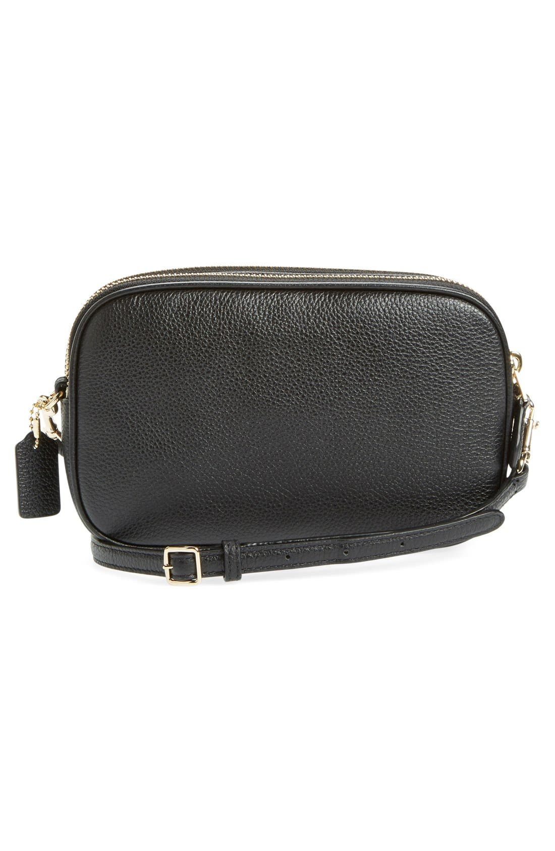 Convertible Leather Crossbody Bag,                             Alternate thumbnail 2, color,                             001