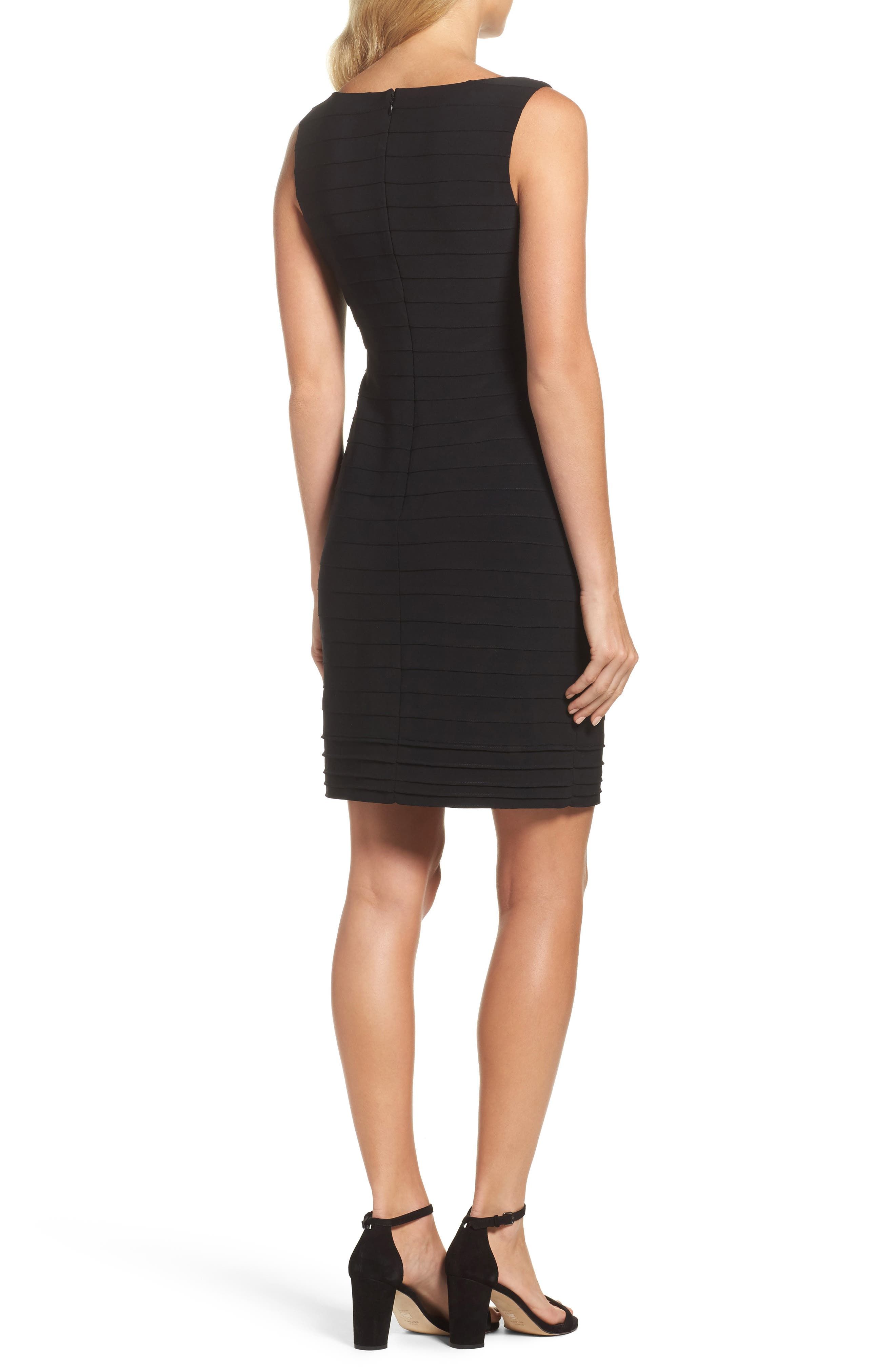 Banded Body-Con Dress,                             Alternate thumbnail 2, color,                             002