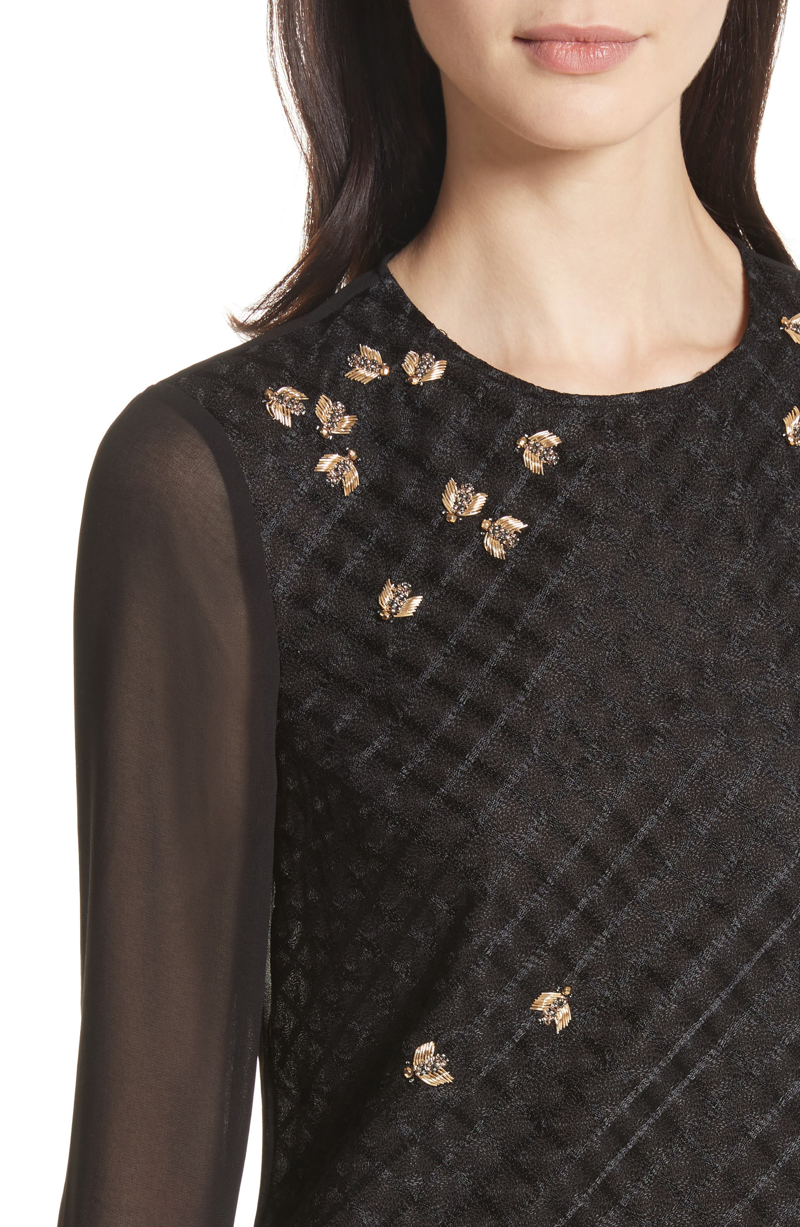 Queen Bee Embellished Top,                             Alternate thumbnail 4, color,                             001