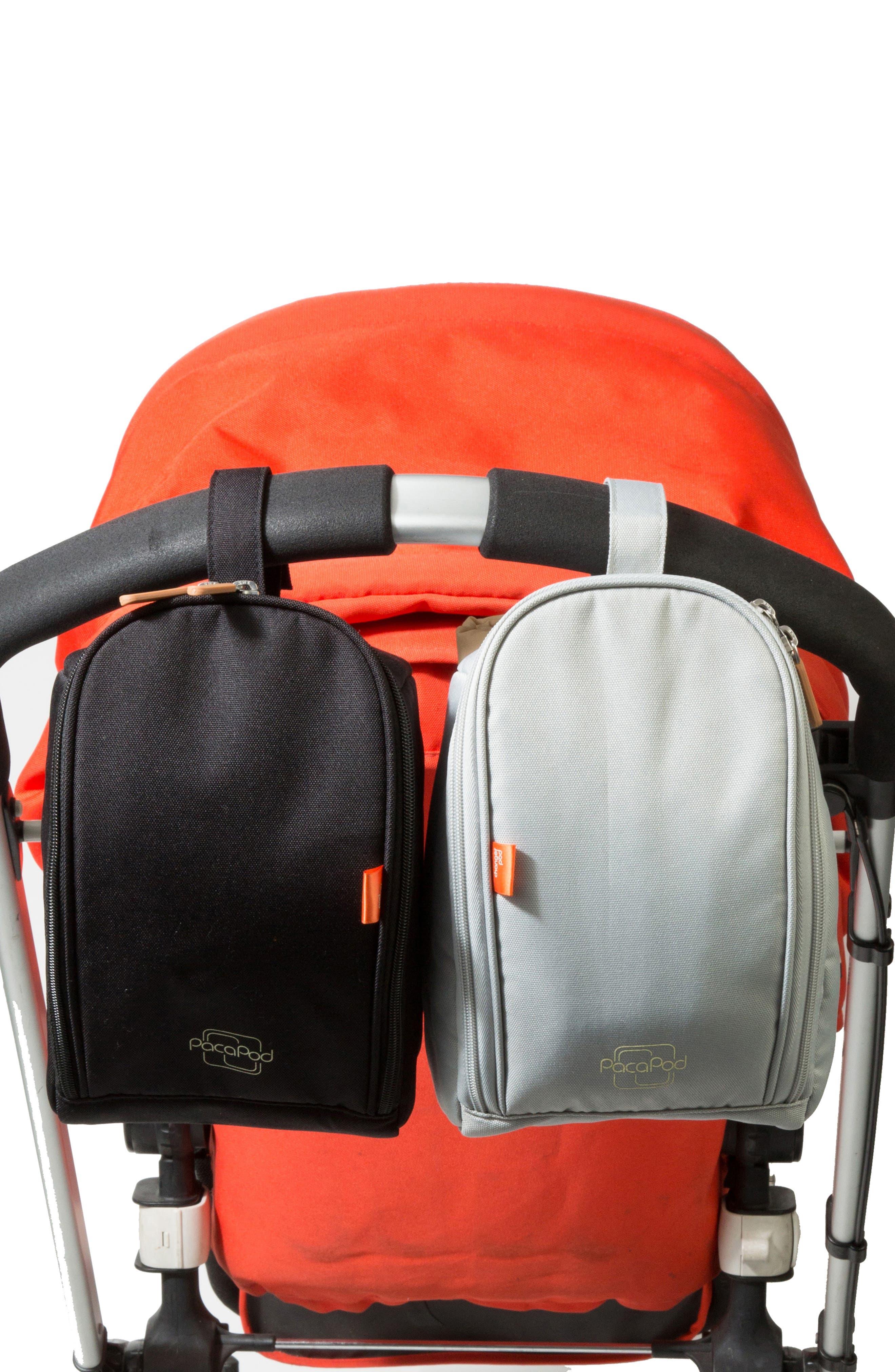 Picos Pack Diaper Backpack,                             Alternate thumbnail 5, color,                             BLACK CHARCOAL