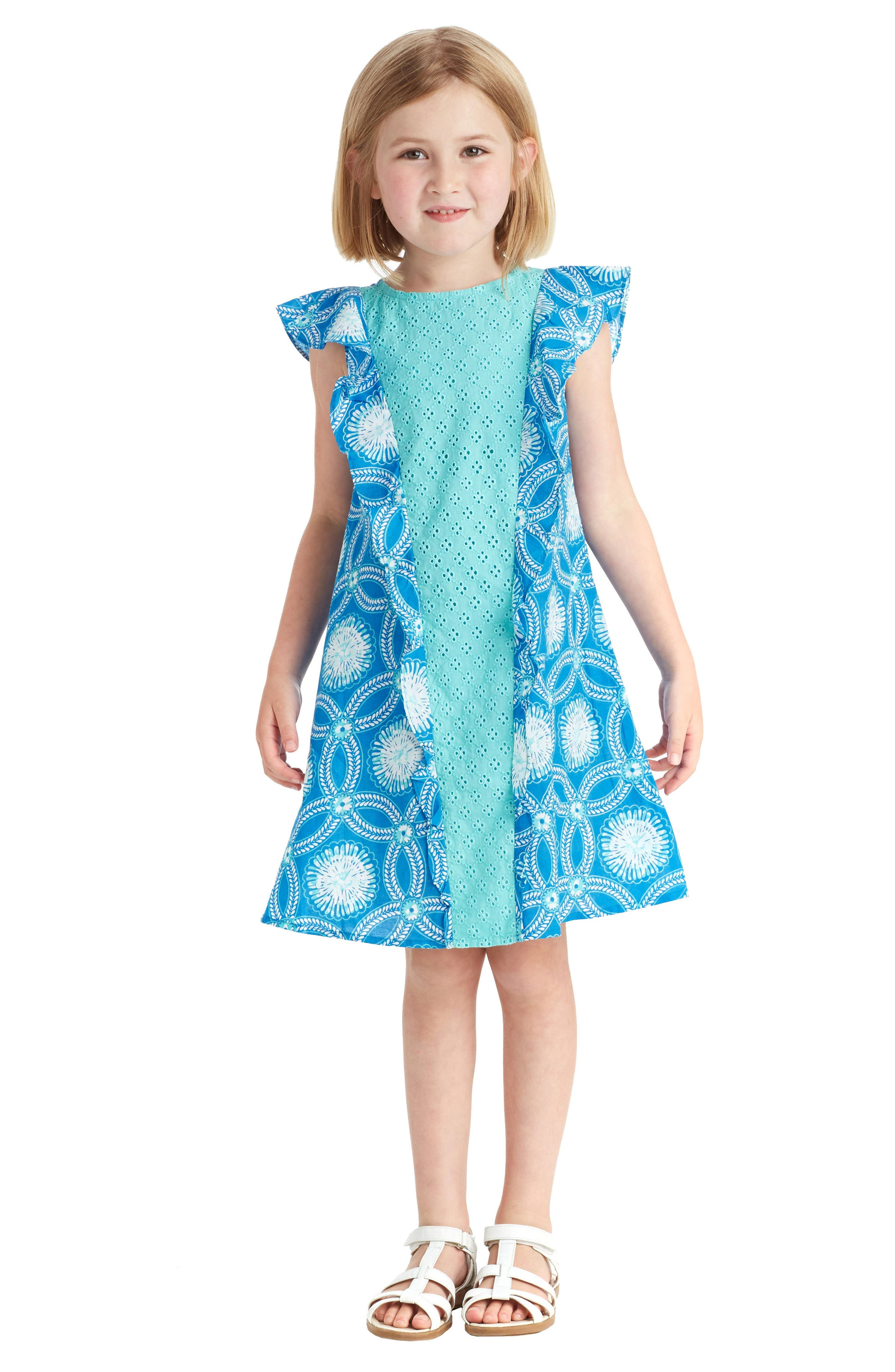 Bali Ruffle Dress,                             Alternate thumbnail 2, color,                             424