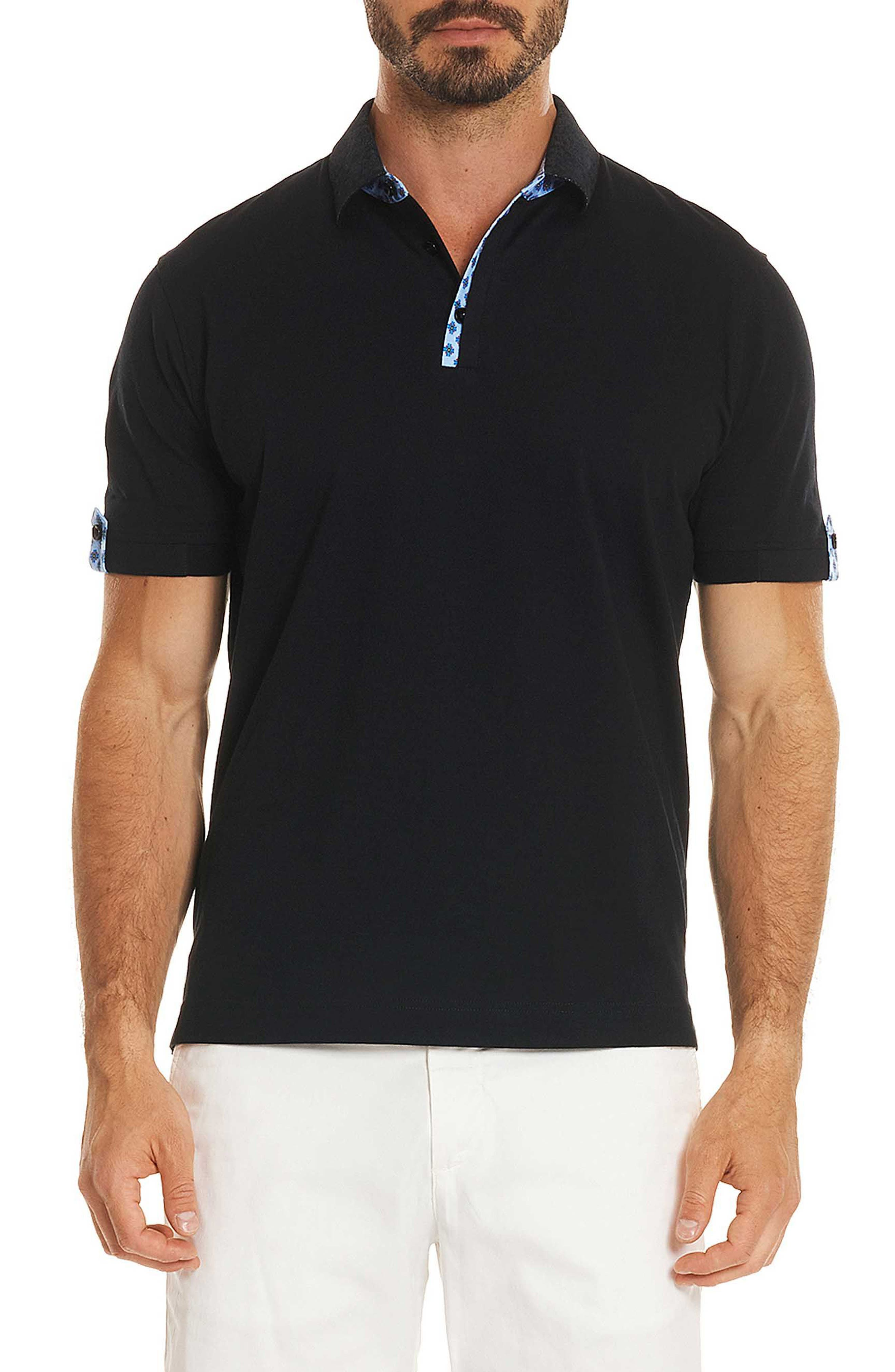 Diego Classic Fit Polo,                             Main thumbnail 1, color,                             BLACK