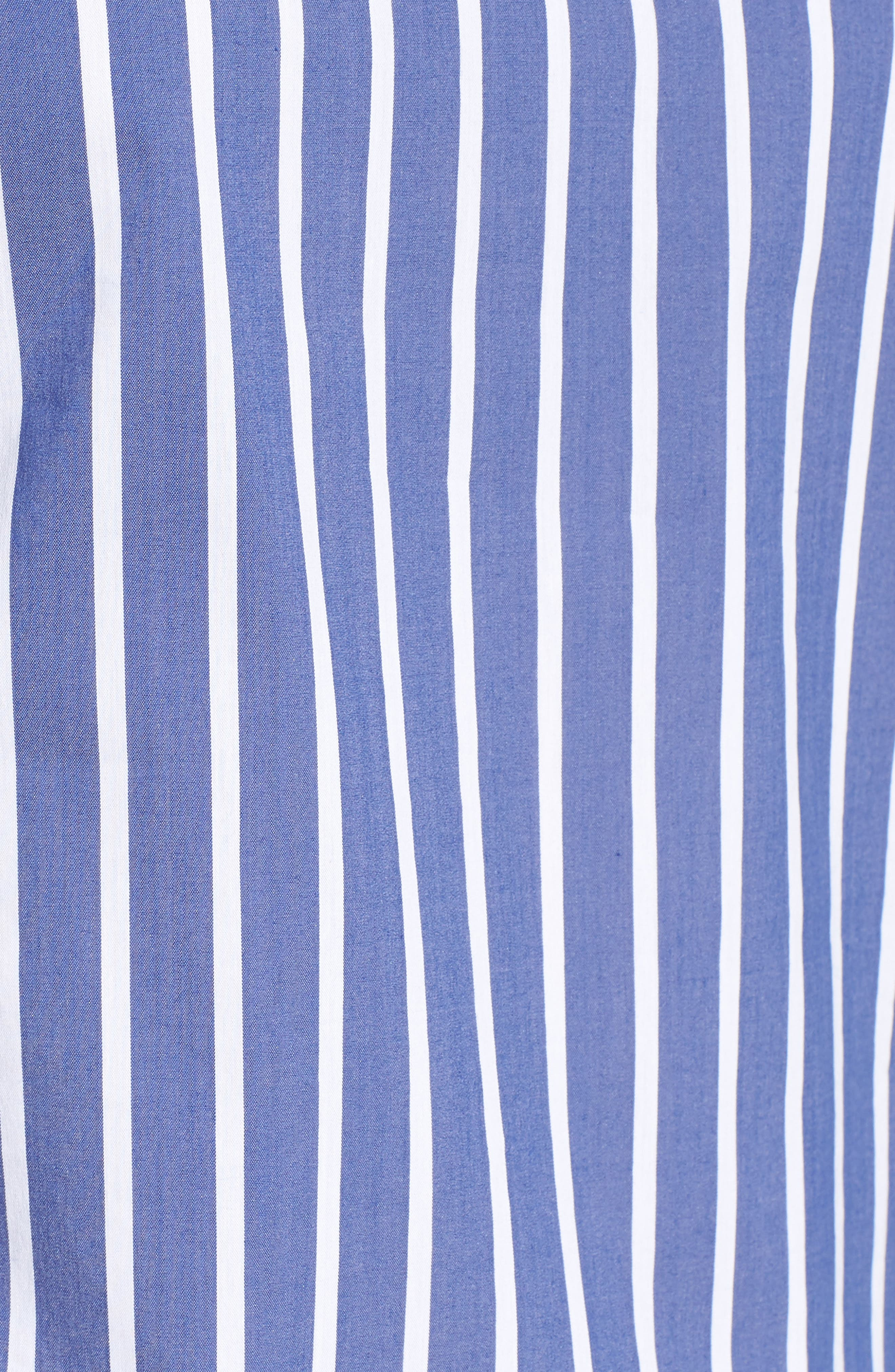 Bishop + Young Gigi Ruffle Sleeve Off the Shoulder Top,                             Alternate thumbnail 6, color,                             BLUE WHITE STRIPE