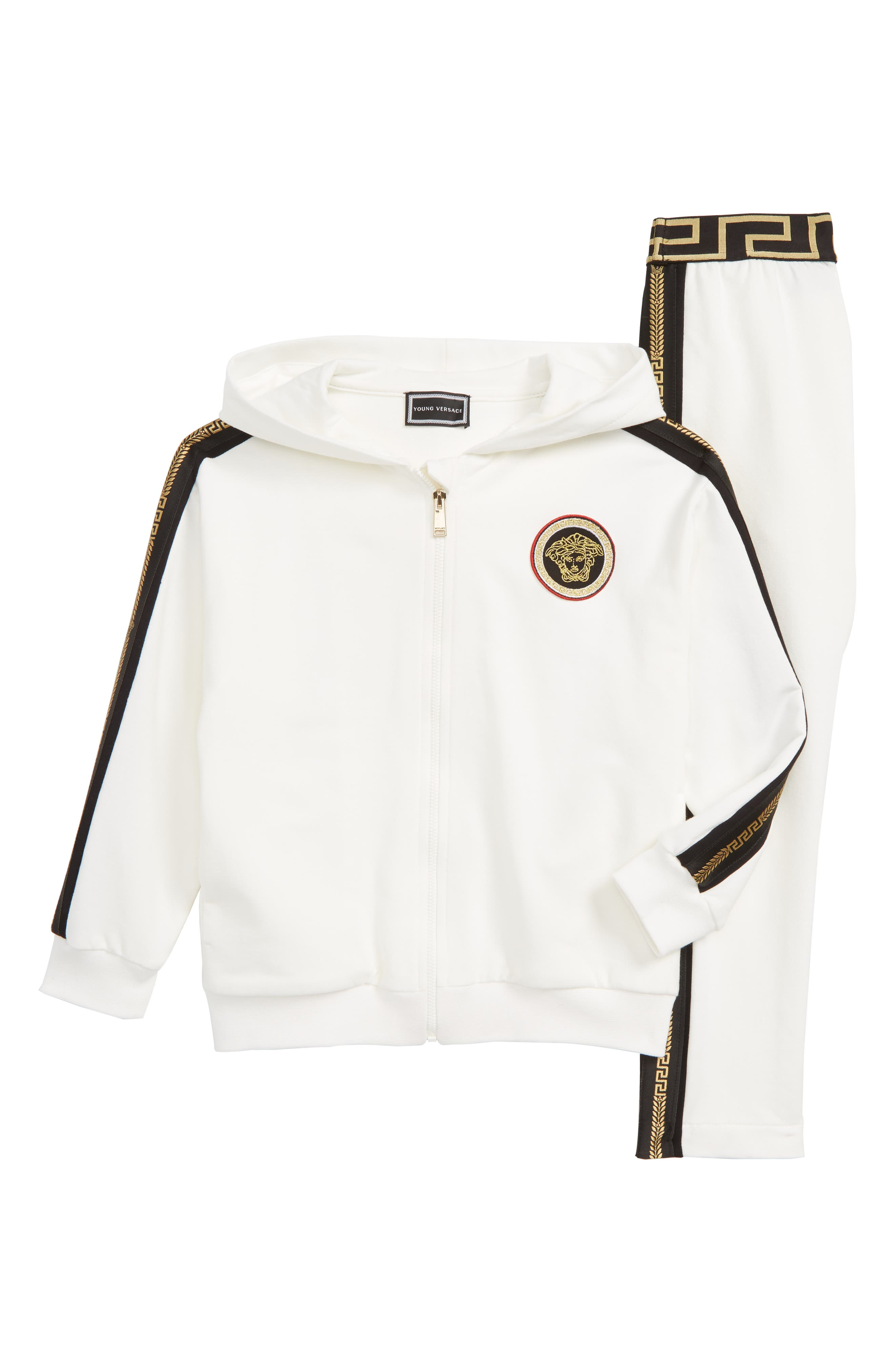 Hooded Sweatsuit,                             Main thumbnail 1, color,                             WHITE