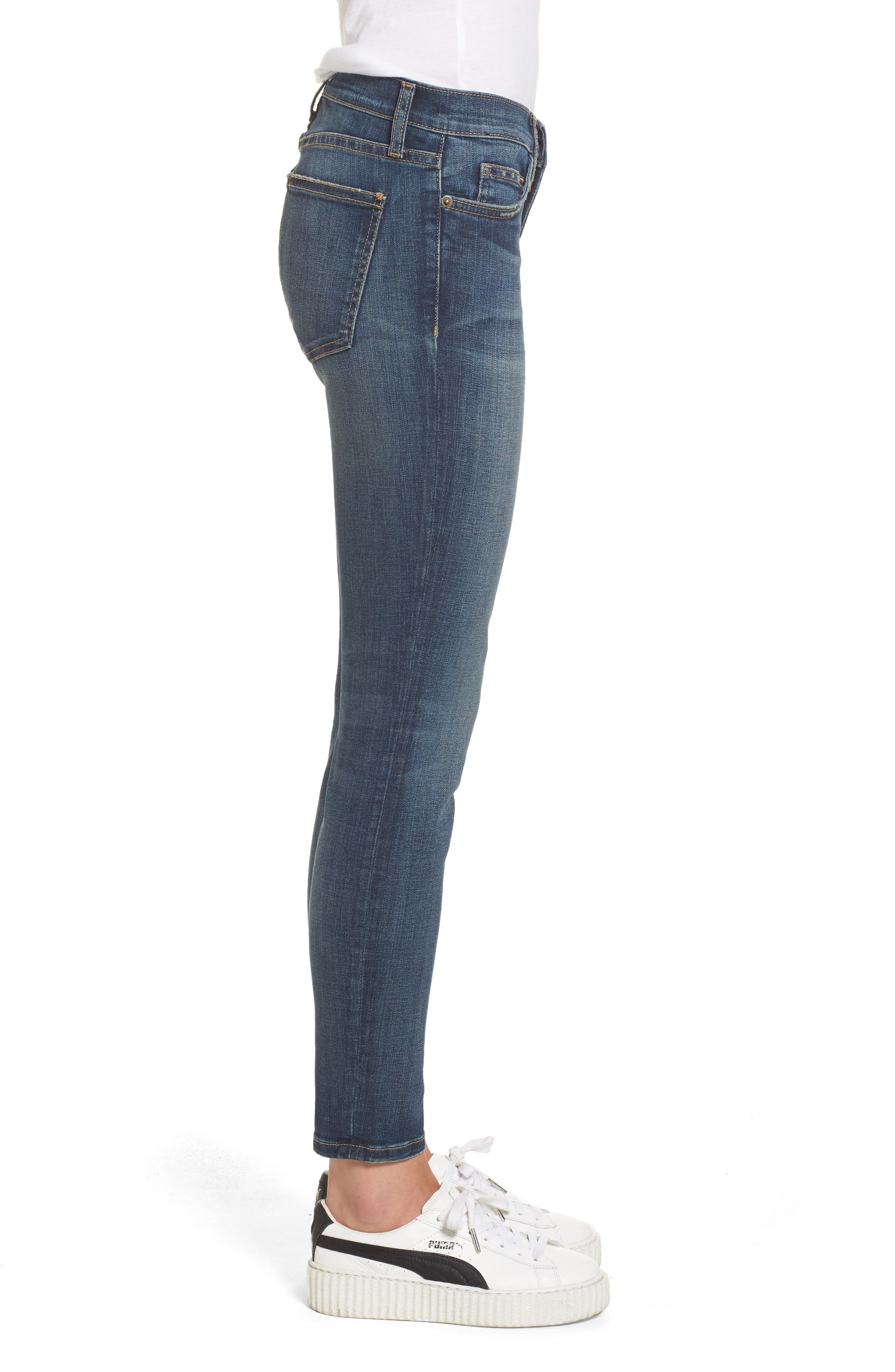 'The Stiletto' Stretch Jeans,                             Alternate thumbnail 4, color,                             477