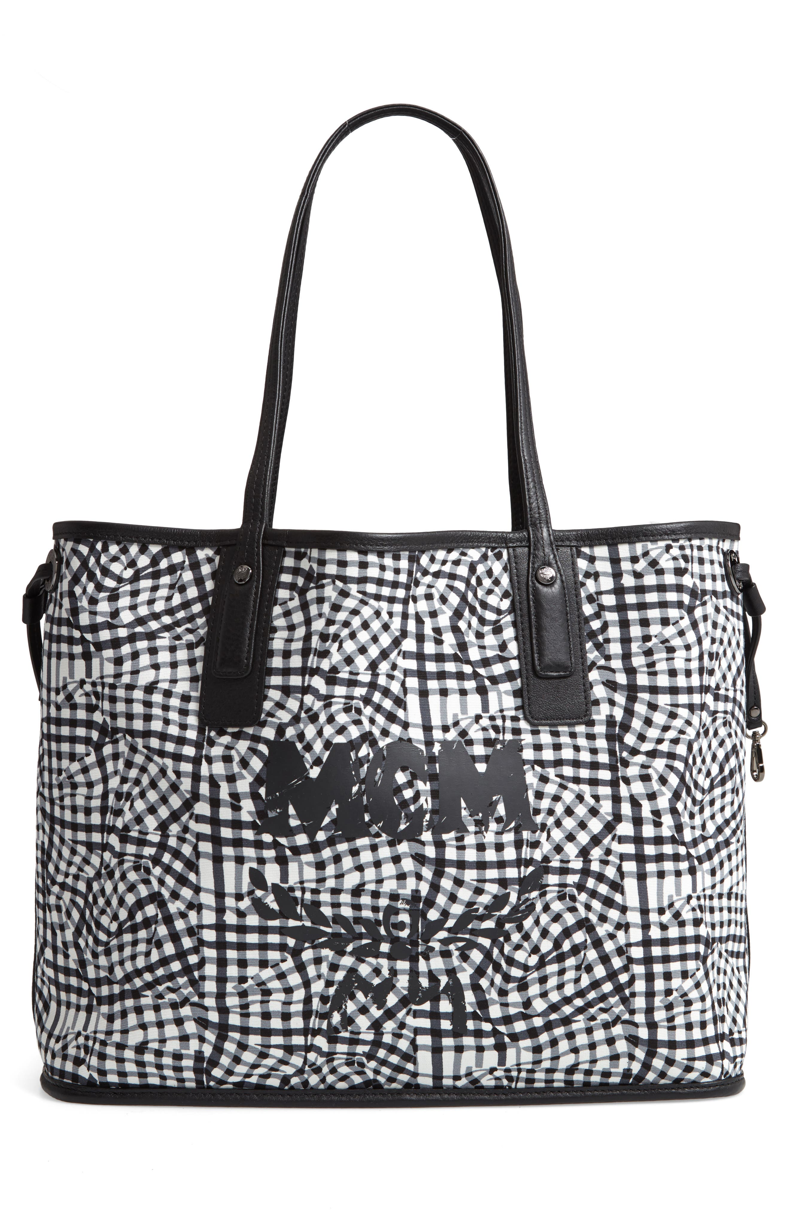 Medium Liz Reversible Shopper,                             Alternate thumbnail 3, color,                             JET BLACK