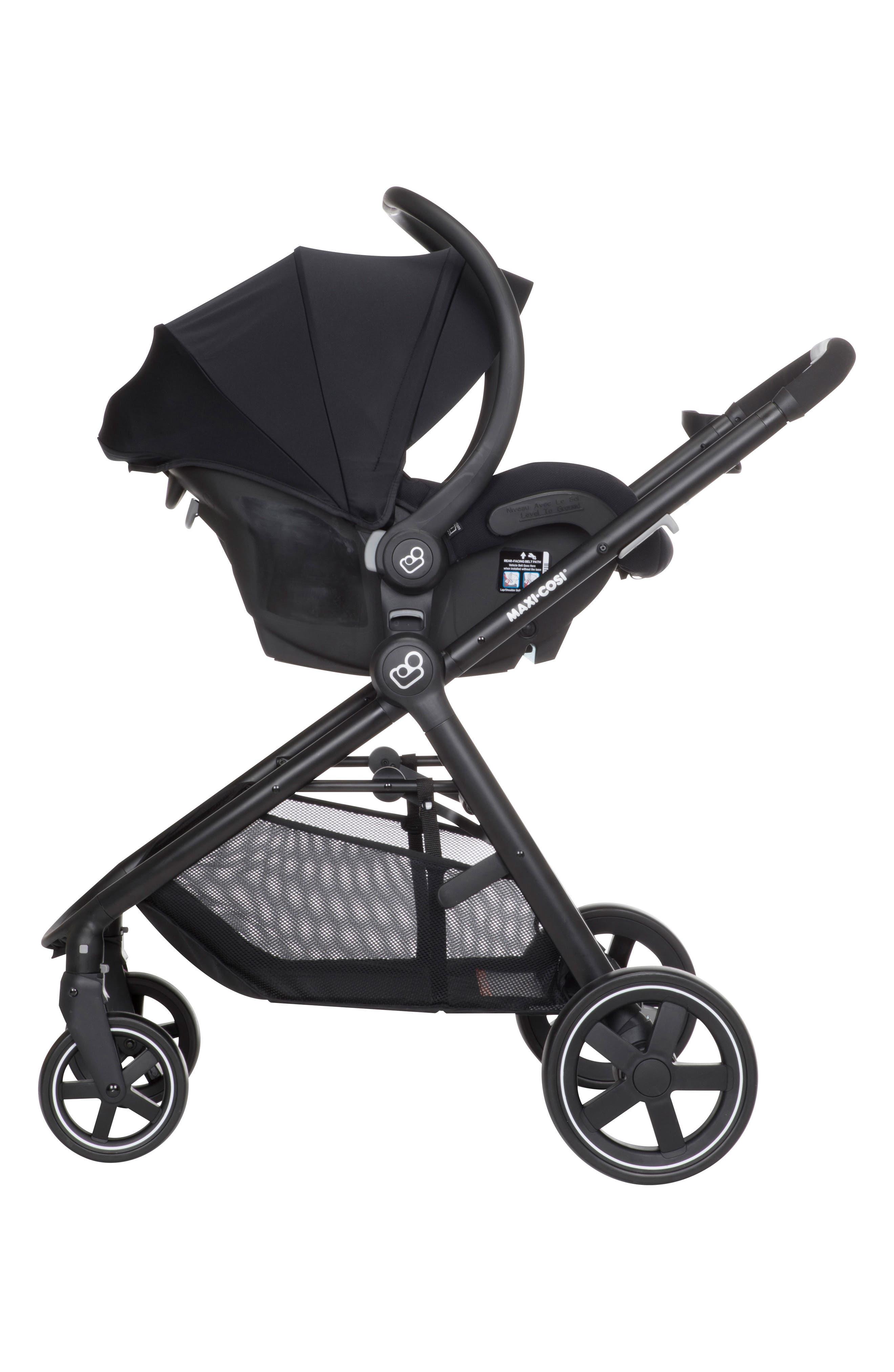 5-1 Mico 30 Infant Car Seat & Zelia Stroller Modular Travel System,                             Alternate thumbnail 4, color,                             NIGHT BLACK