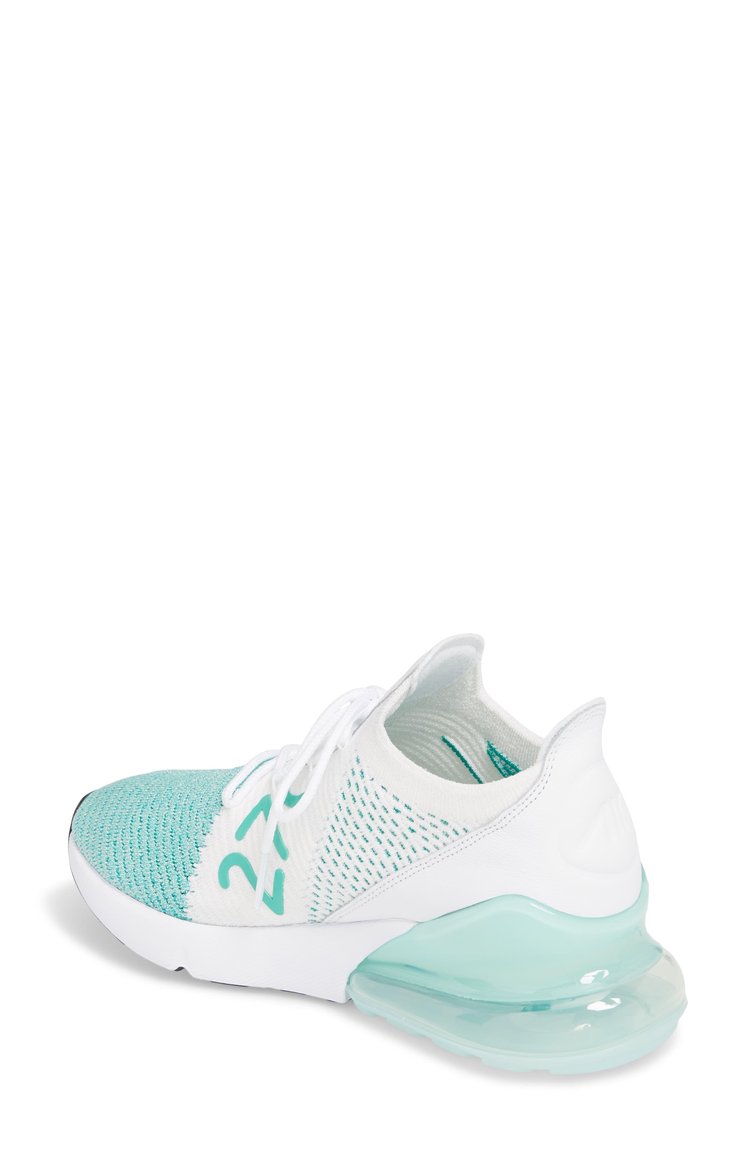 Air Max 270 Flyknit Sneaker,                             Alternate thumbnail 12, color,