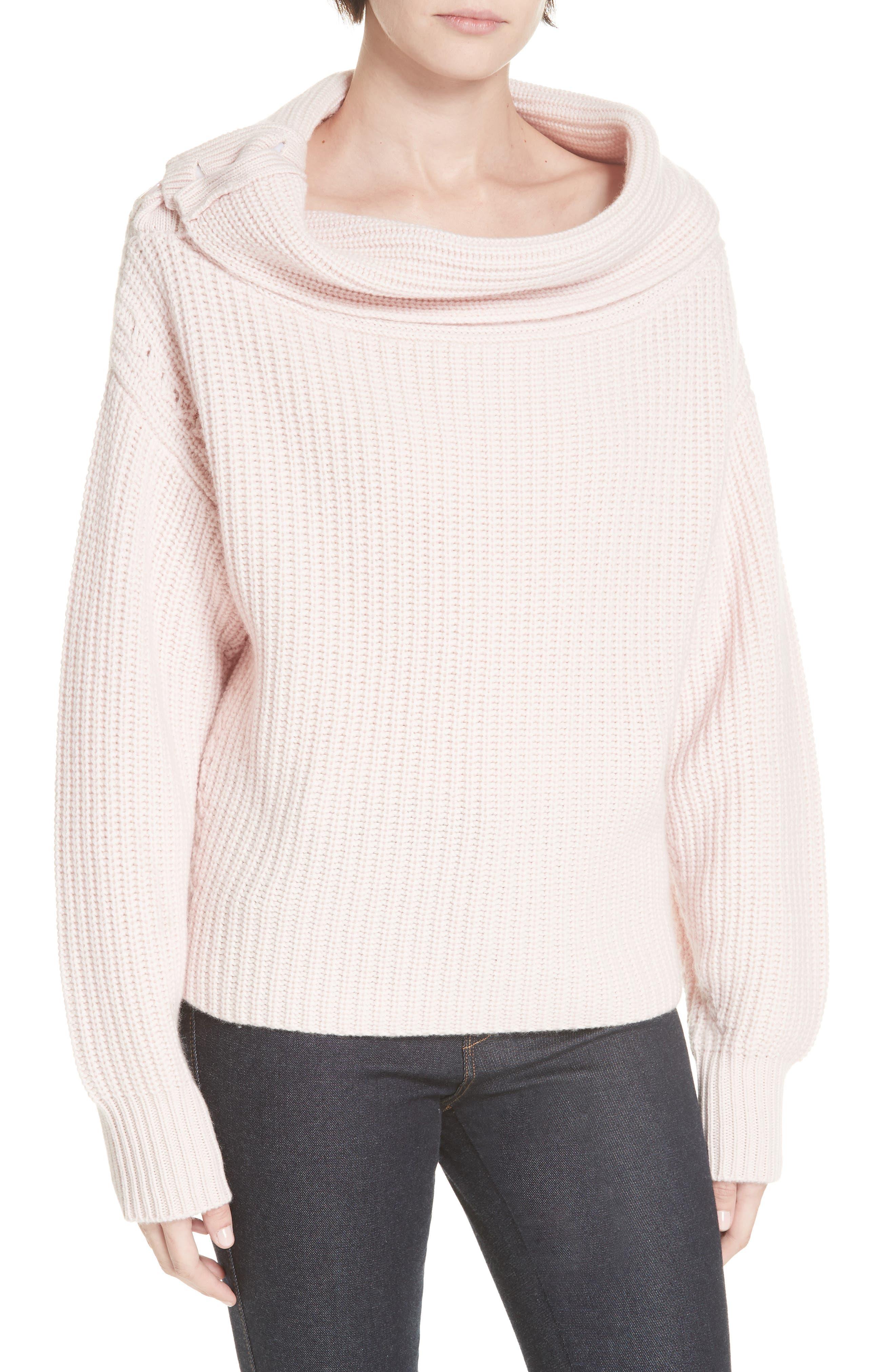 Equipment Ruth Wool Cashmere Shaker Sweater, Pink