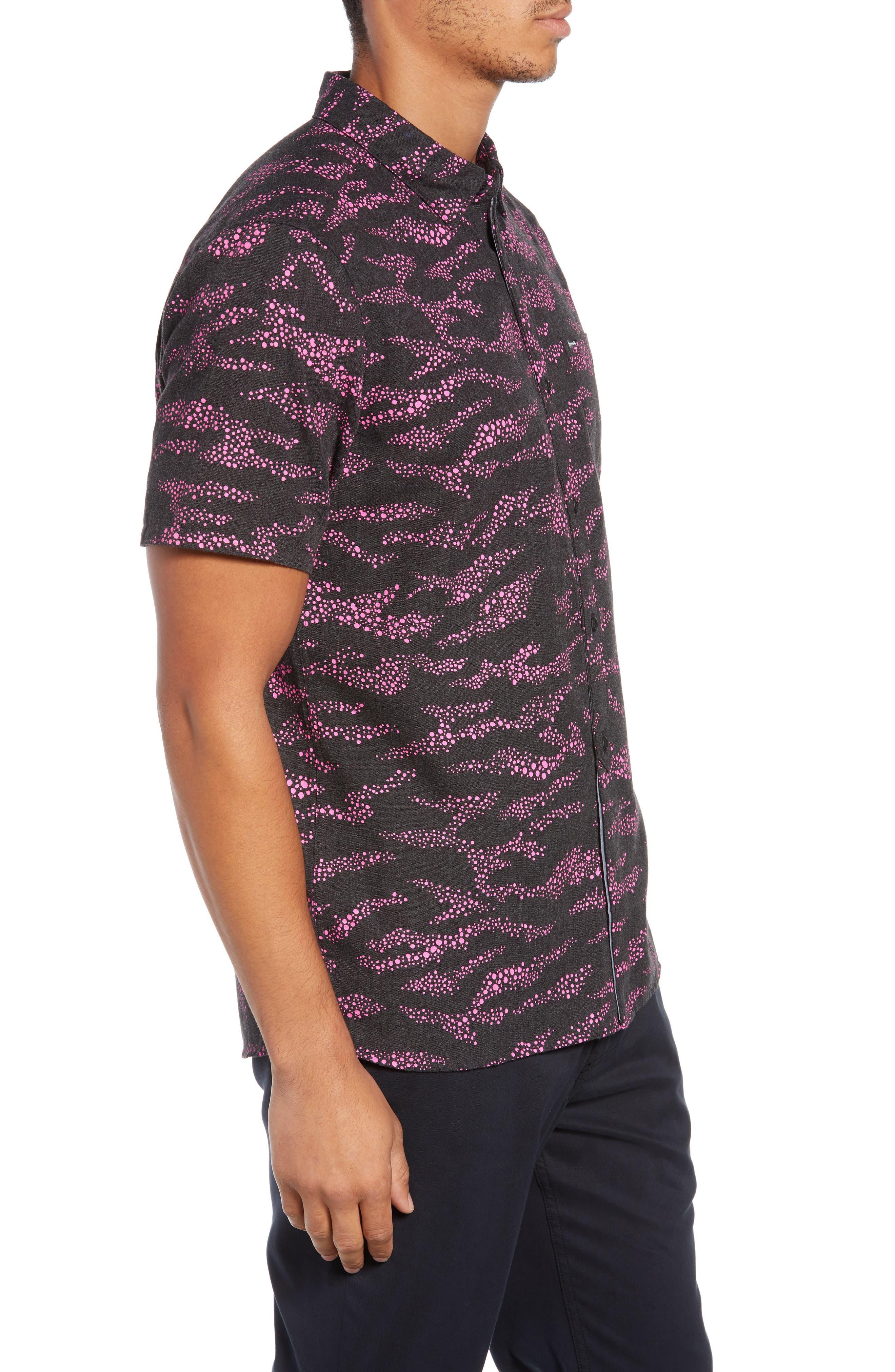 Outcast Woven Shirt,                             Alternate thumbnail 4, color,                             BLACK HEATHER