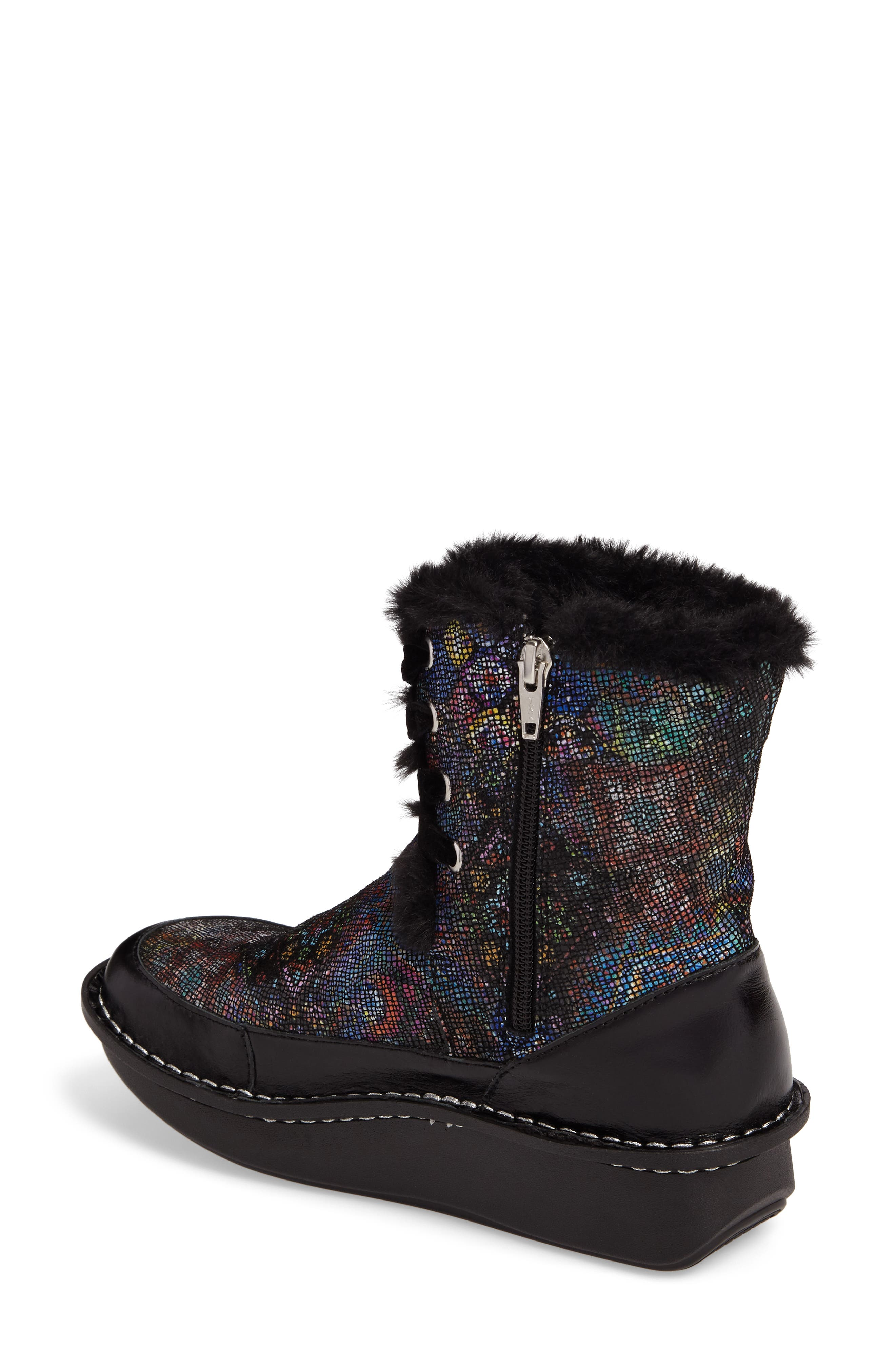 Twisp Lace-Up Boot with Faux Fur Lining,                             Alternate thumbnail 6, color,