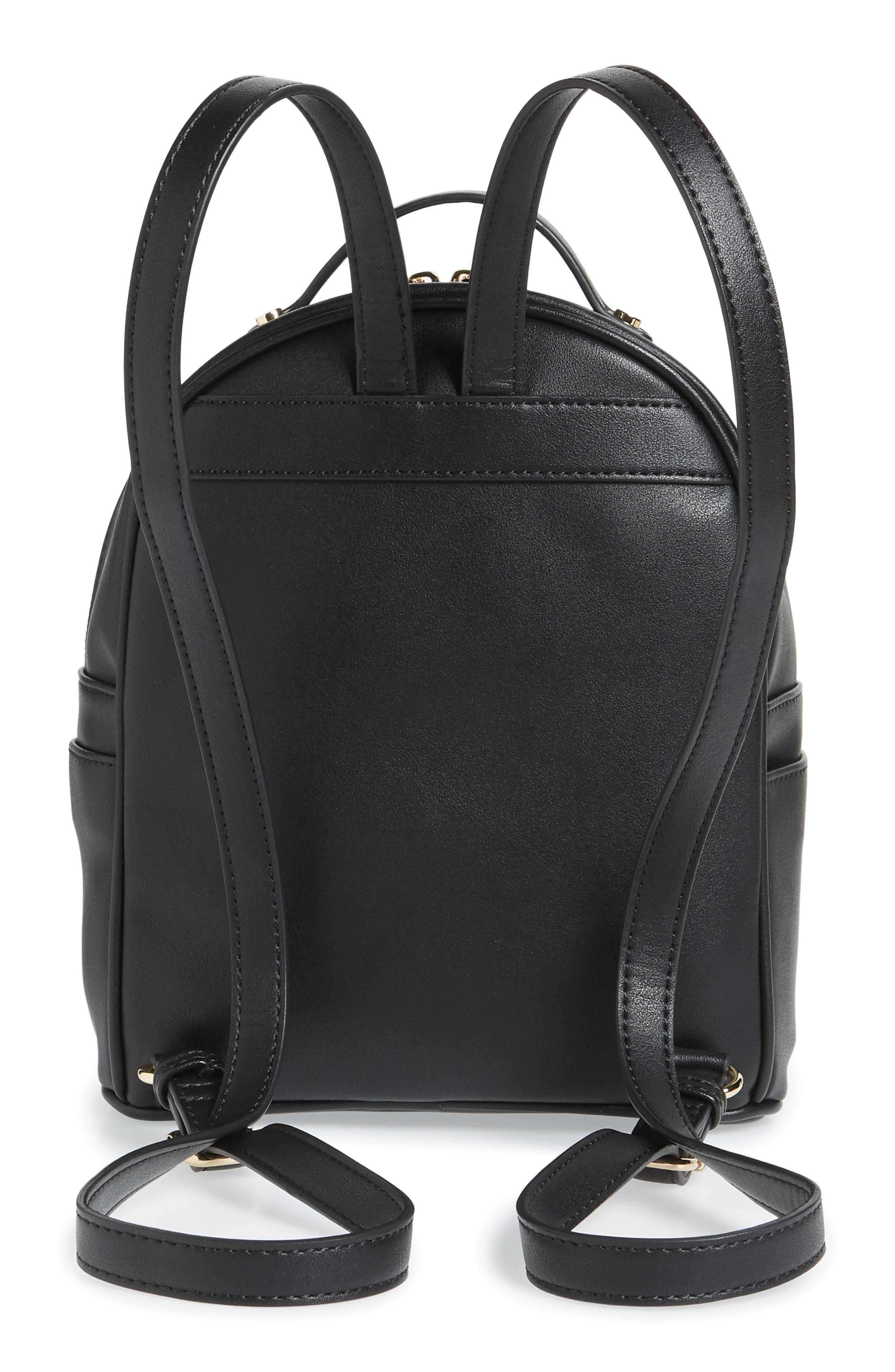 Mali + Lili Harper Lili Basket Weave Backpack,                             Alternate thumbnail 3, color,                             BLACK
