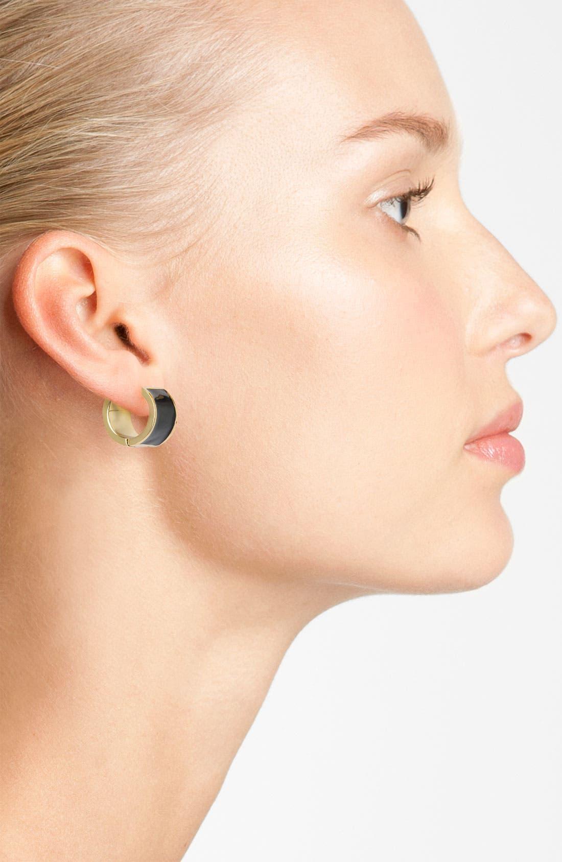 'bar none' hoop earrings,                             Alternate thumbnail 2, color,                             001