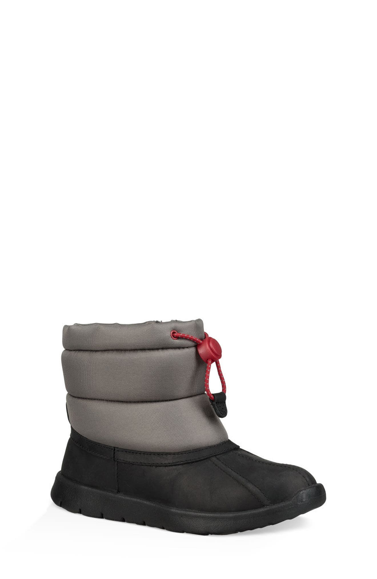 Puffer Winter Boot,                         Main,                         color, BLACK