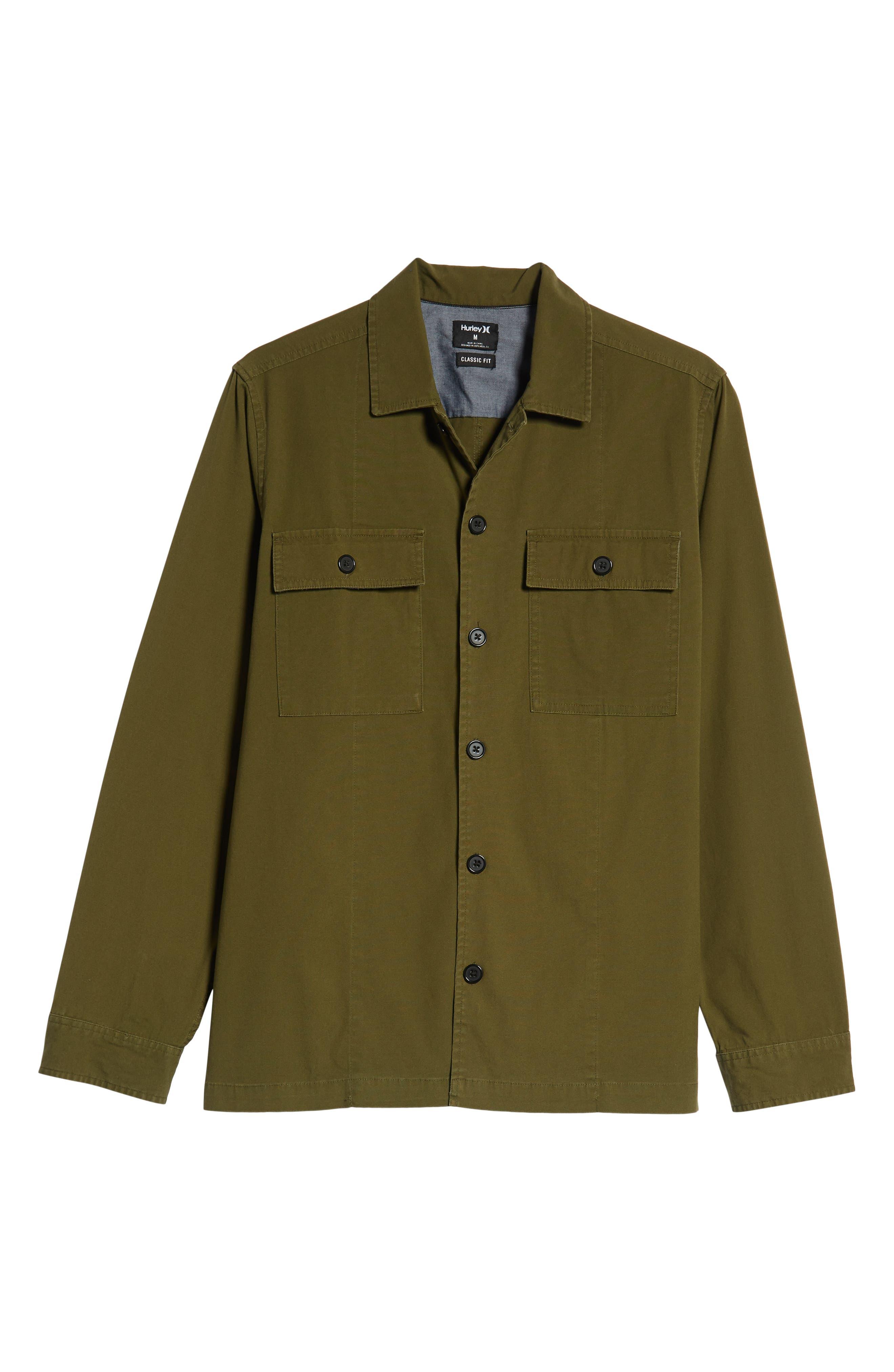 Lt. Dan Military Shirt Jacket,                             Alternate thumbnail 6, color,                             OLIVE CANVAS