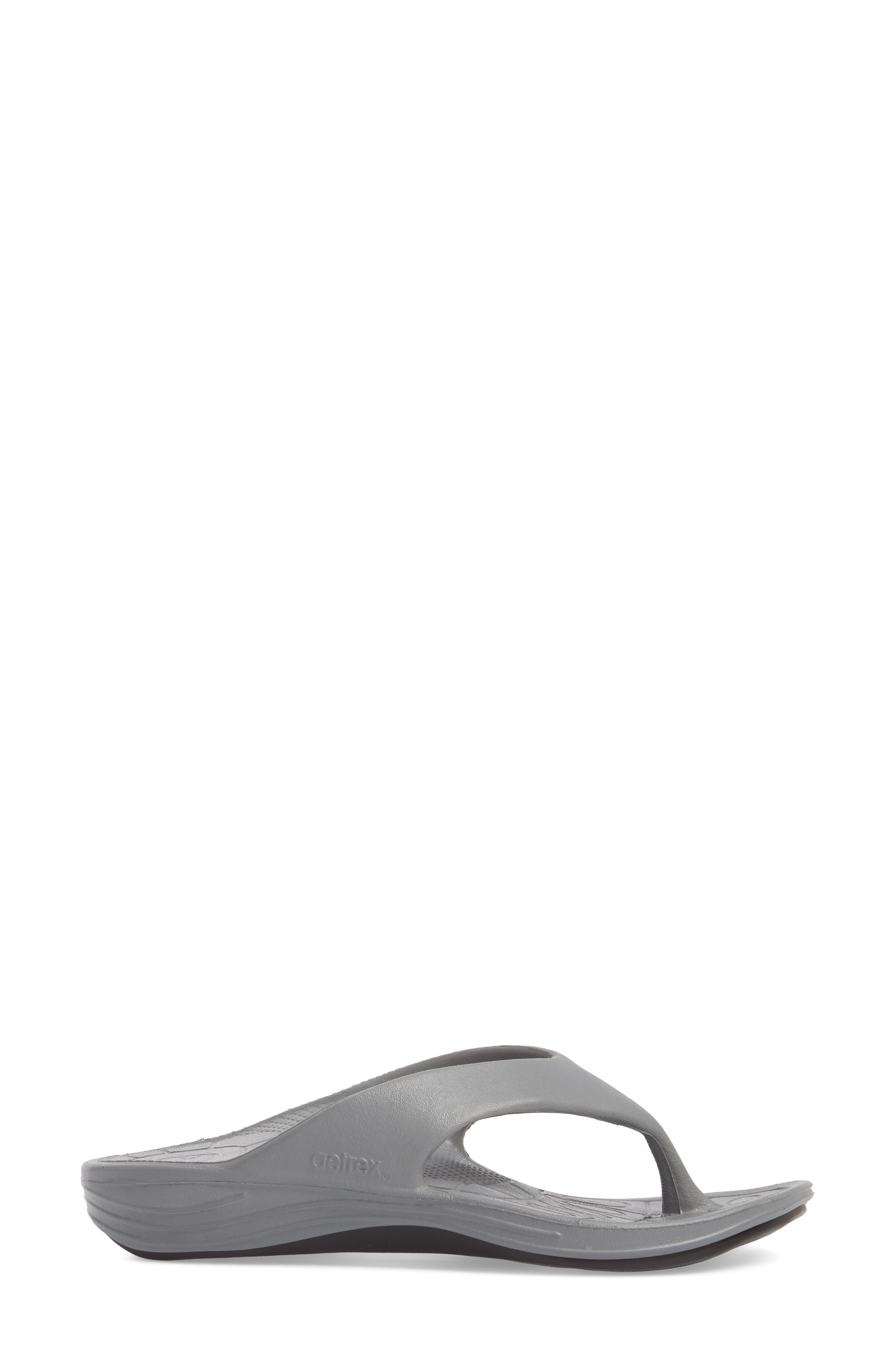 Lynco Flip Flop,                             Alternate thumbnail 3, color,                             GREY