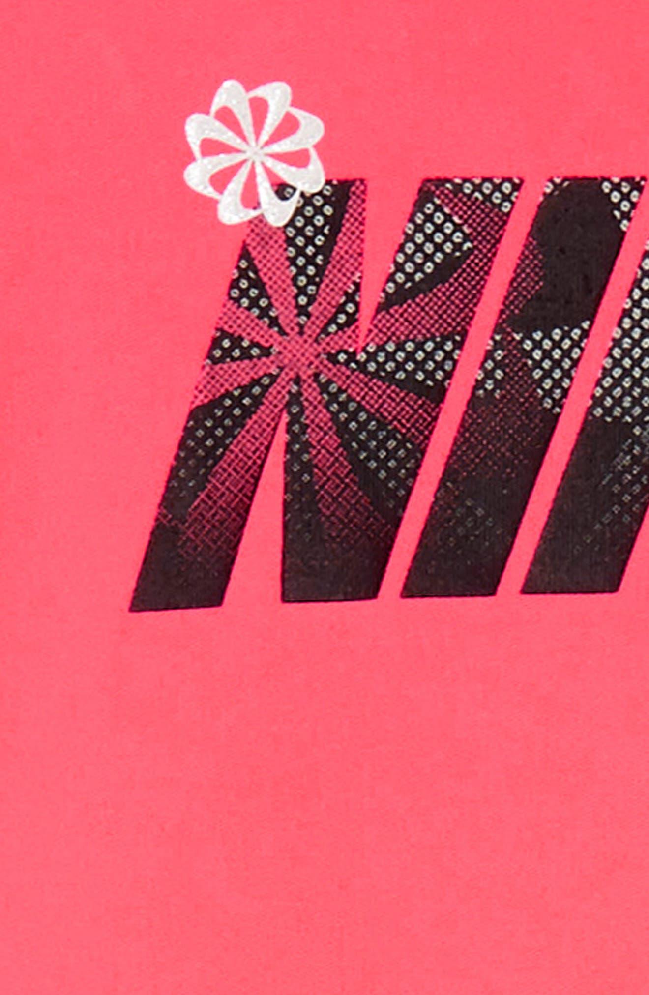 Swoosh Peplum Tunic & Leggings Set,                             Alternate thumbnail 2, color,                             006