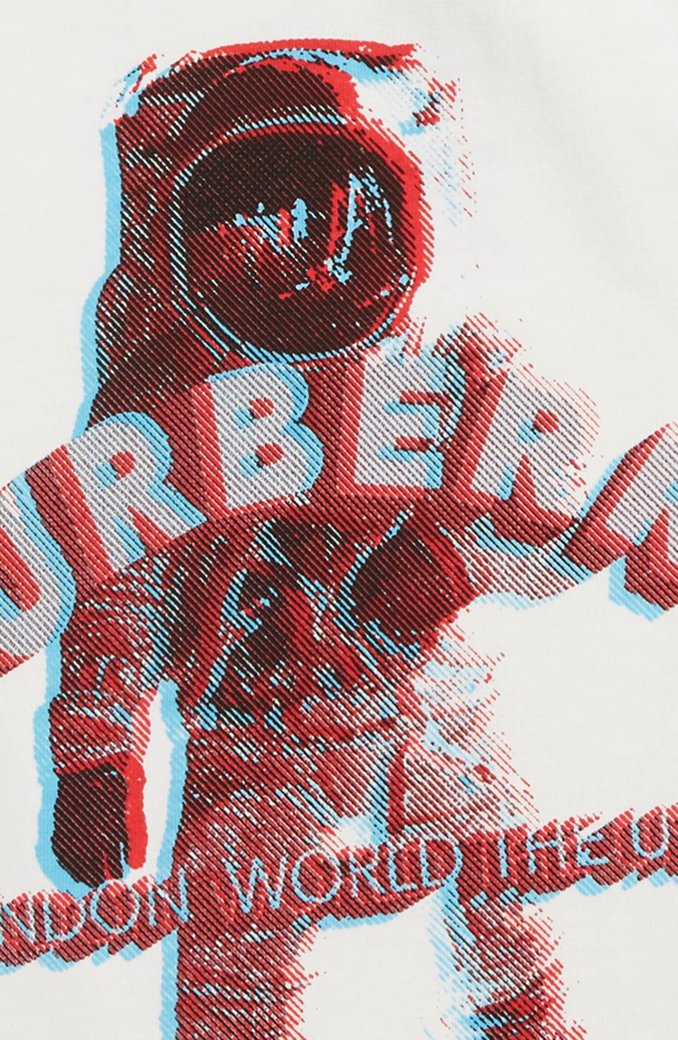 3D Spaceman Graphic T-Shirt,                             Alternate thumbnail 3, color,                             WHITE