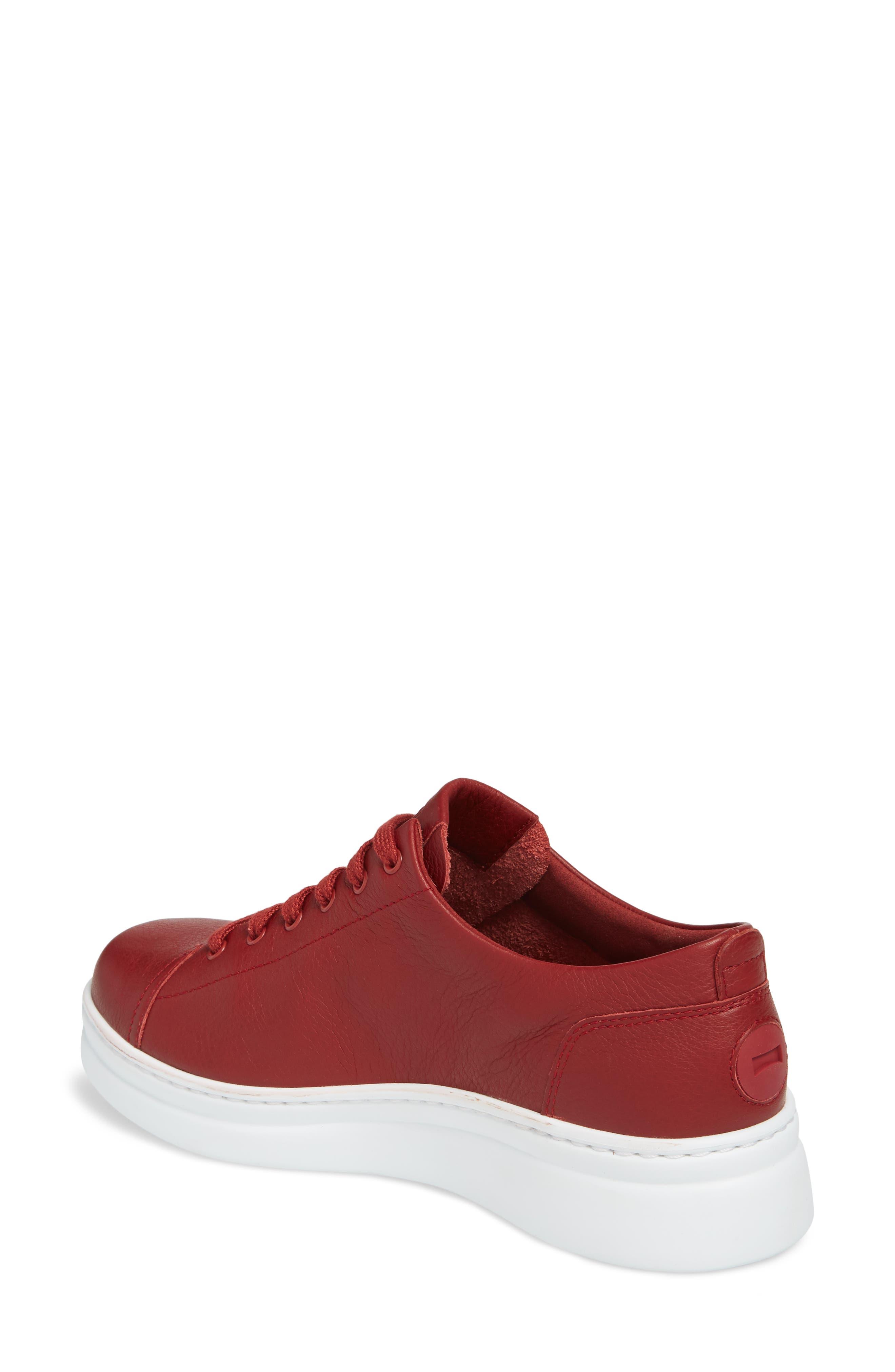 CAMPER,                             Runner Up Sneaker,                             Alternate thumbnail 2, color,                             DARK RED LEATHER