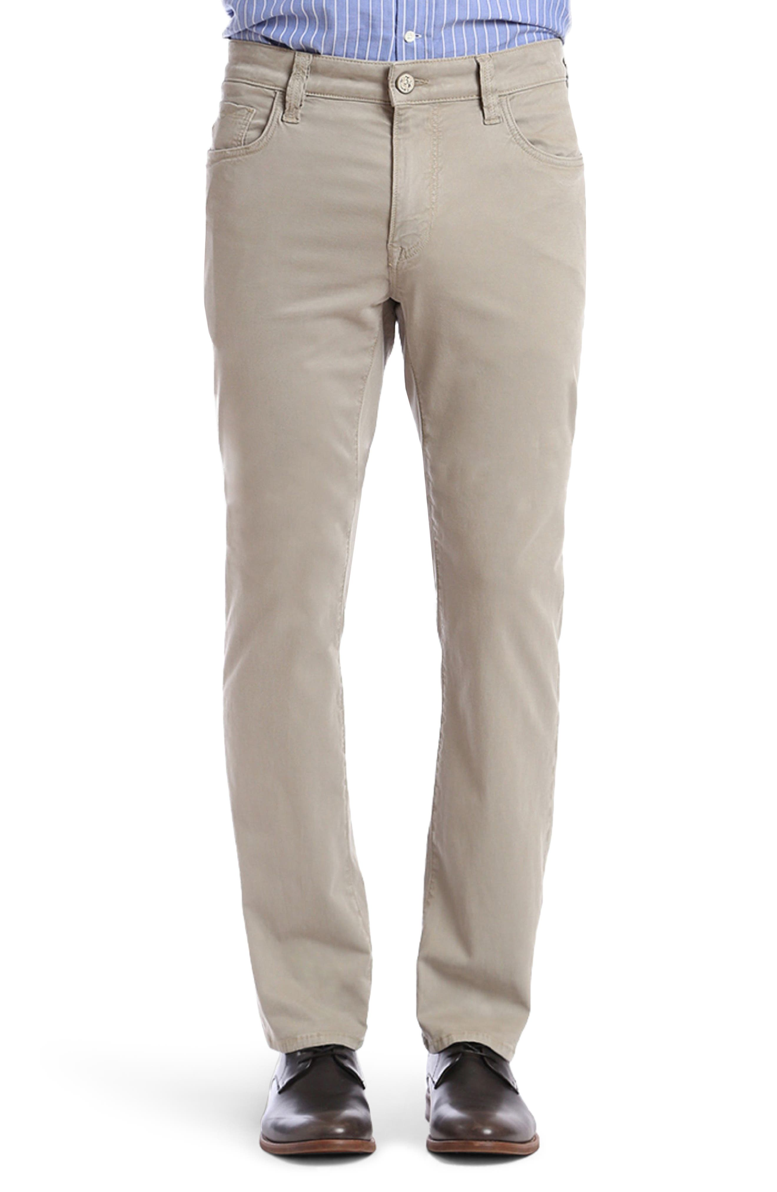 Courage Straight Fit Twill Pants,                         Main,                         color, KHAKI FINE TWILL