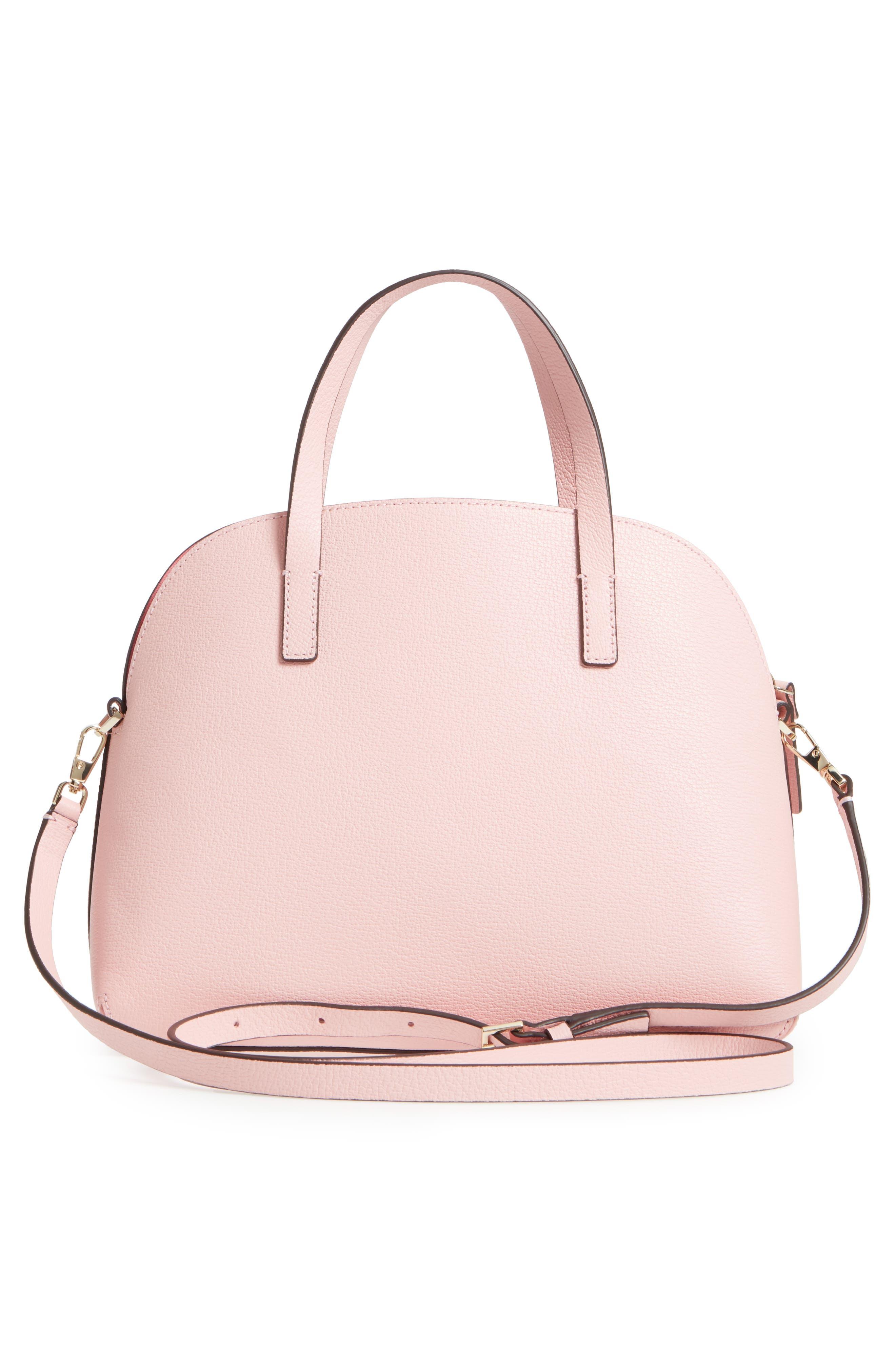 olive drive lottie leather satchel,                             Alternate thumbnail 6, color,