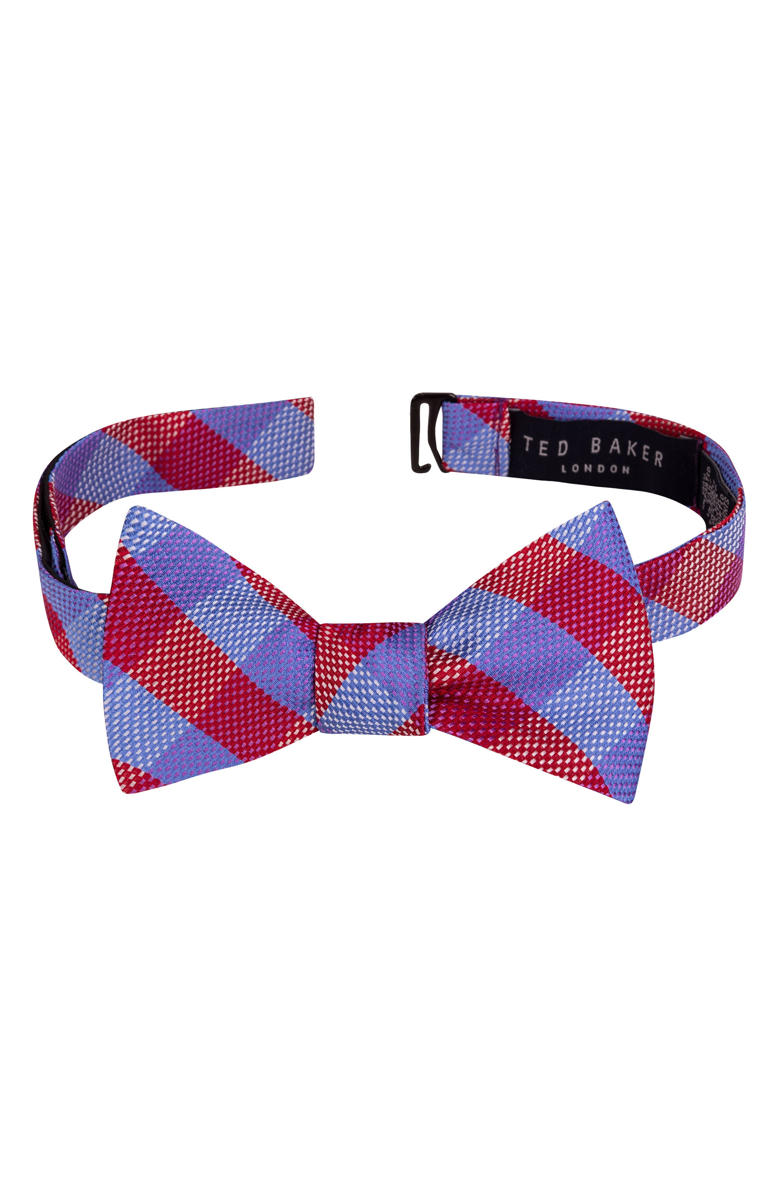 Derby Check Silk Bow Tie,                             Alternate thumbnail 21, color,