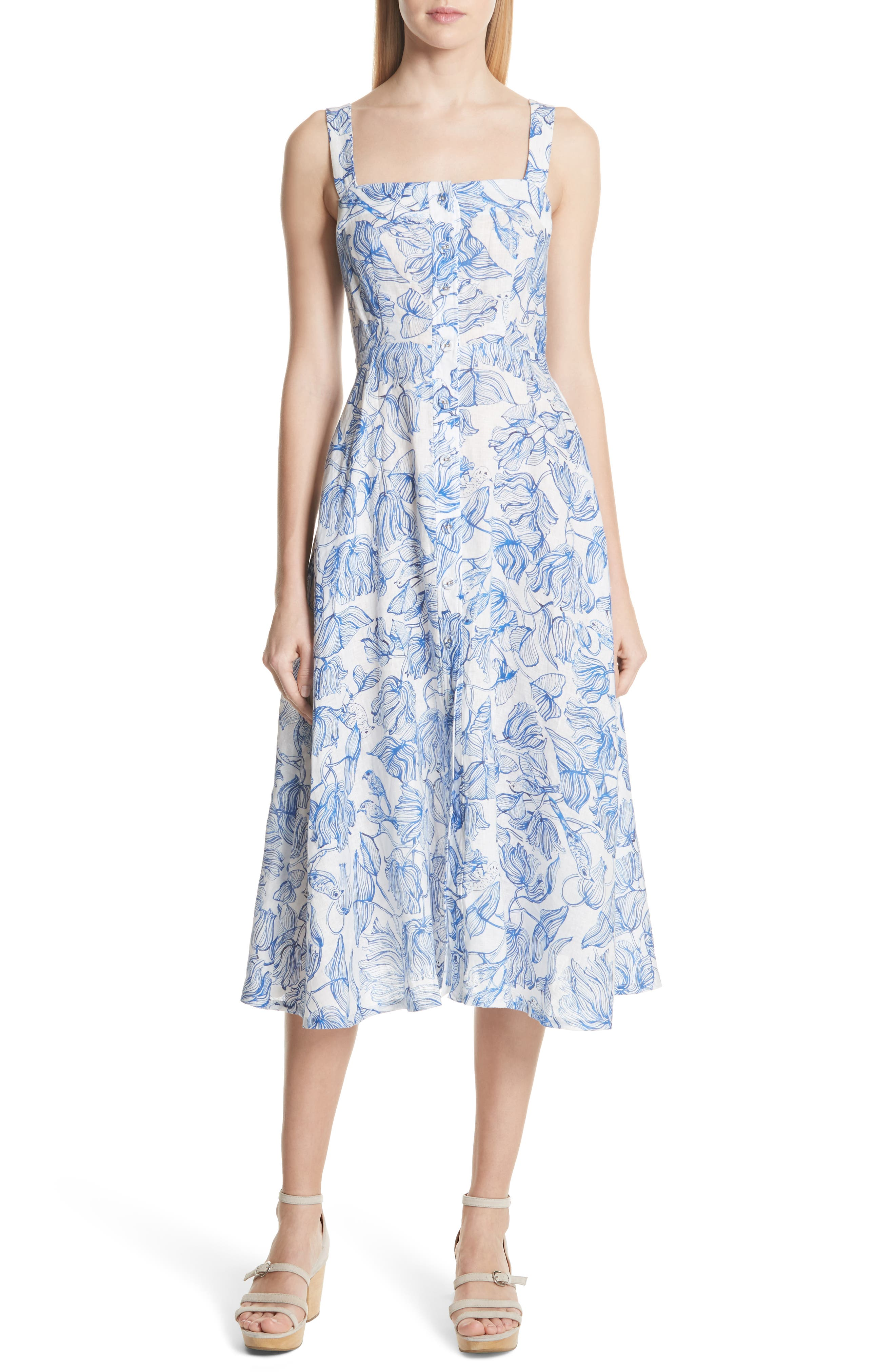RACHEL COMEY,                             Lido Linen Dress,                             Main thumbnail 1, color,                             435