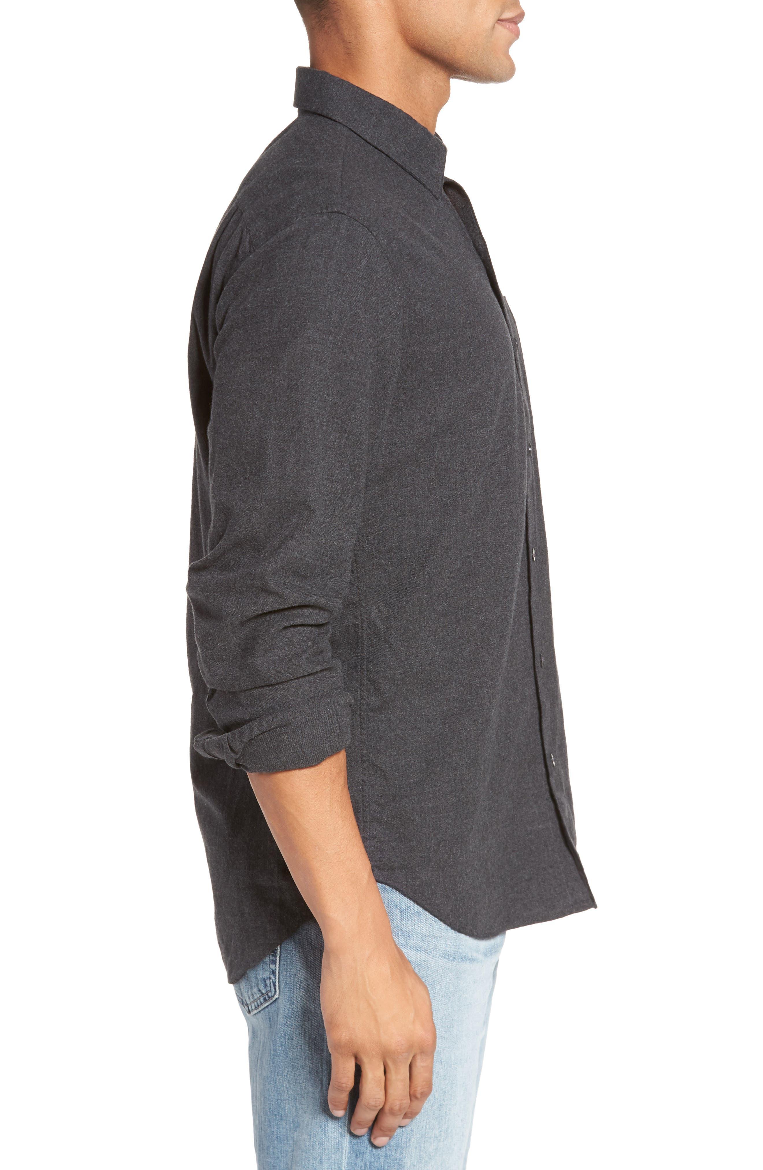 Slim Fit Brushed Twill Sport Shirt,                             Alternate thumbnail 3, color,                             020