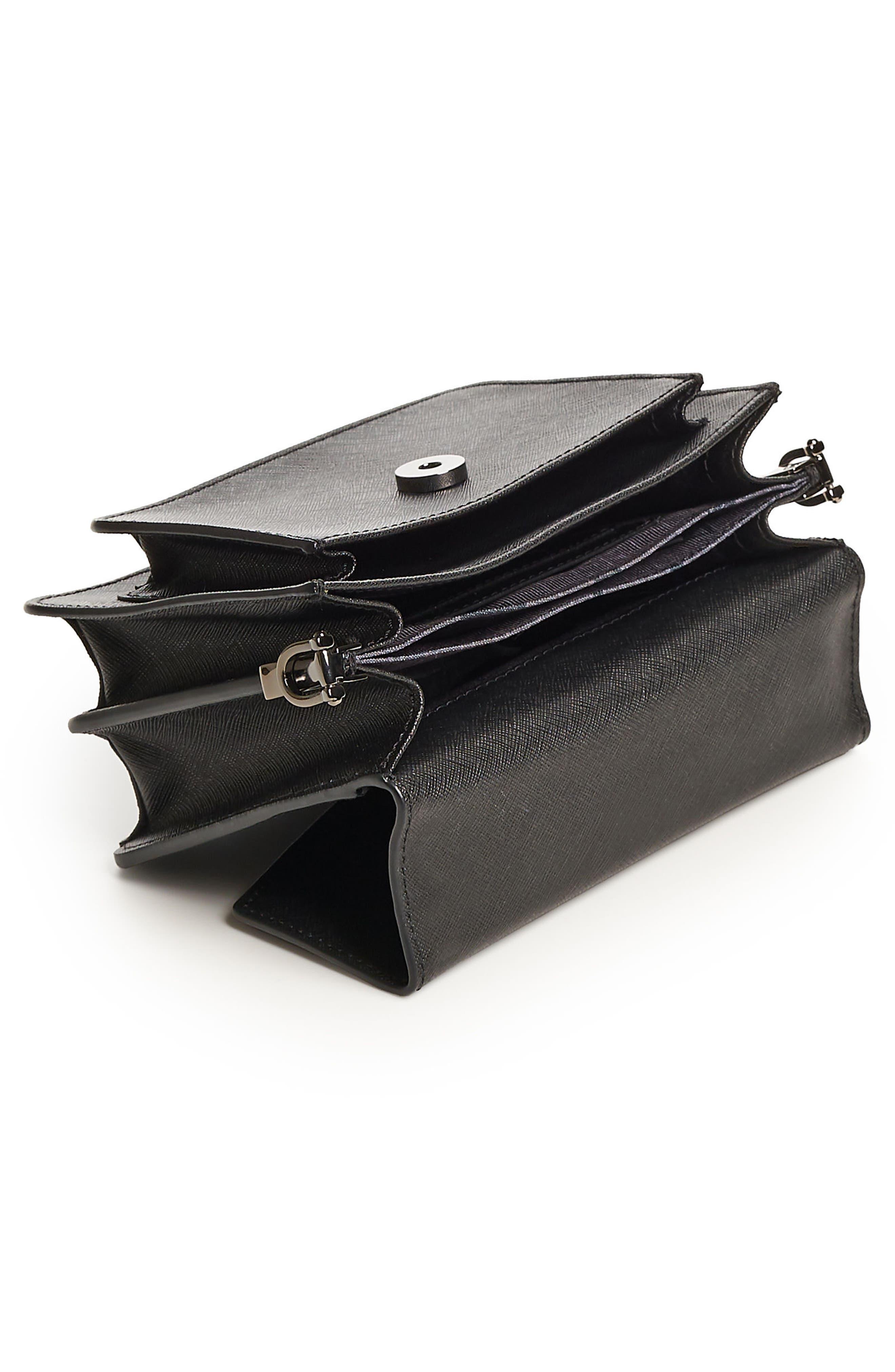 Mini Cobble Hill Calfskin Leather Crossbody Bag,                             Alternate thumbnail 3, color,                             001