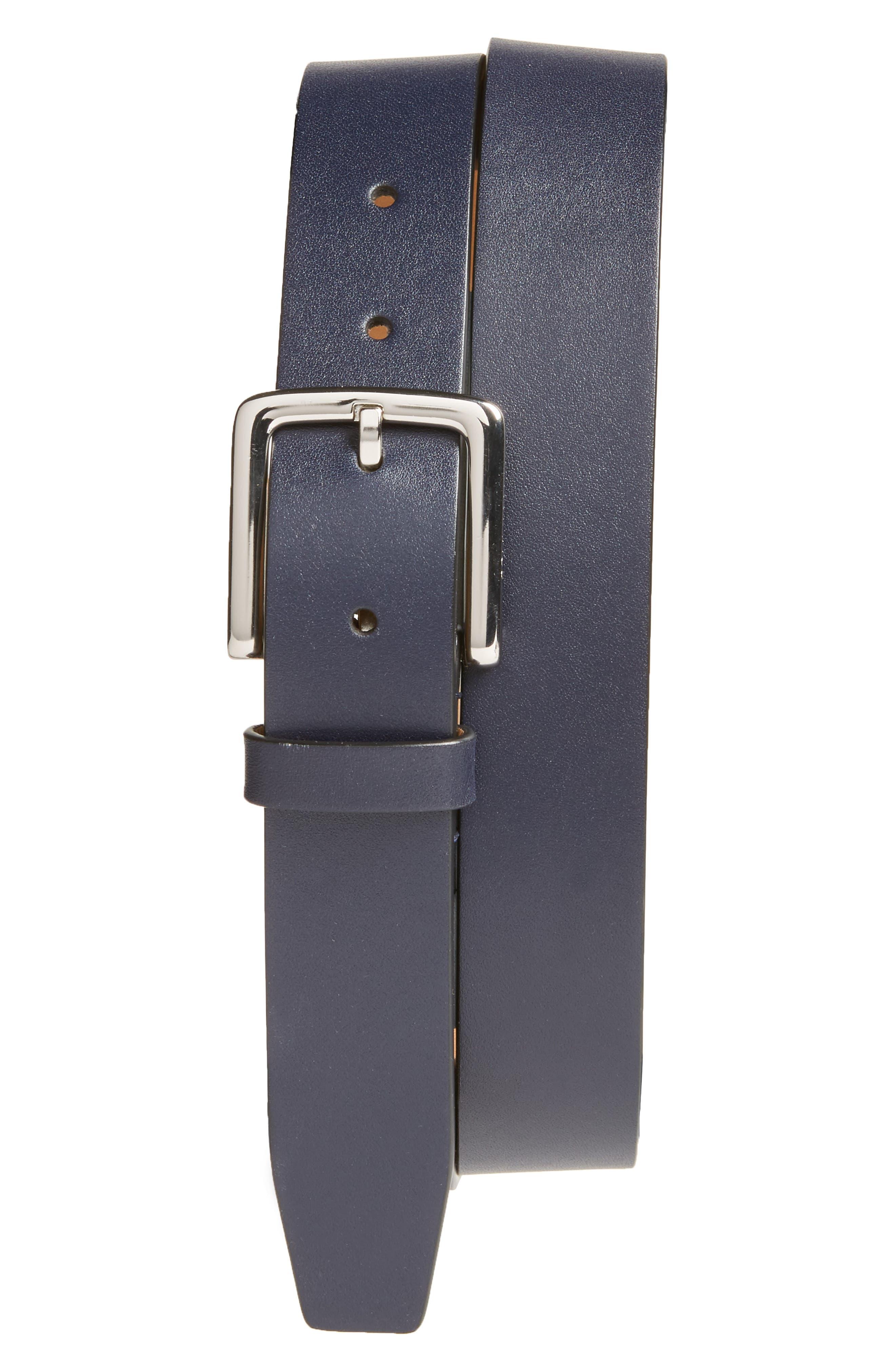 Washington Leather Belt,                             Main thumbnail 1, color,                             400