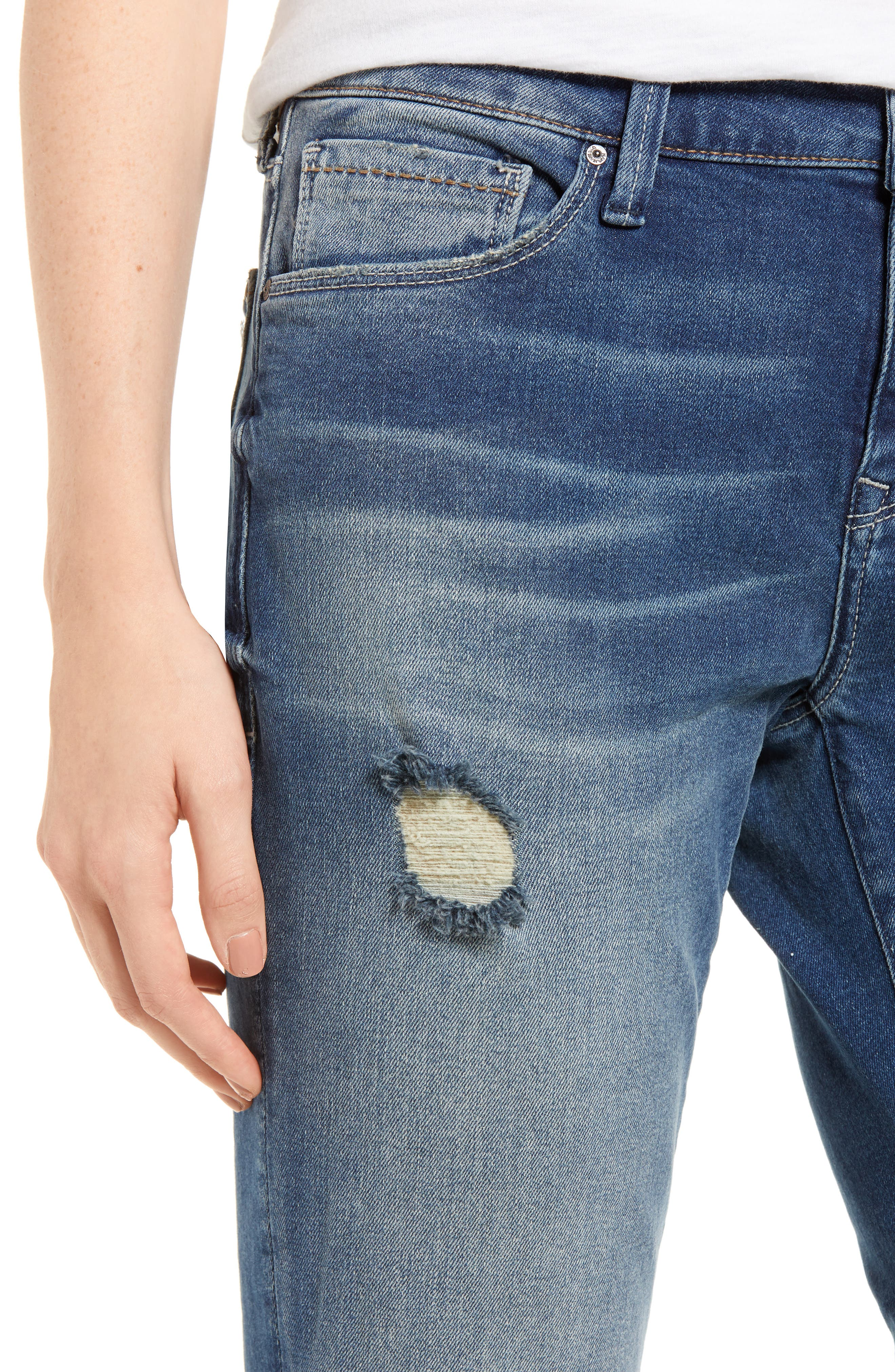 Ada Ripped Boyfriend Jeans,                             Alternate thumbnail 4, color,                             MID RIPPED VINTAGE