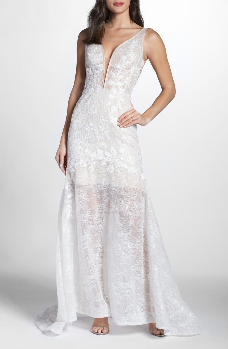 Bronx And Banco ESTELLE PLUNGING LACE GOWN