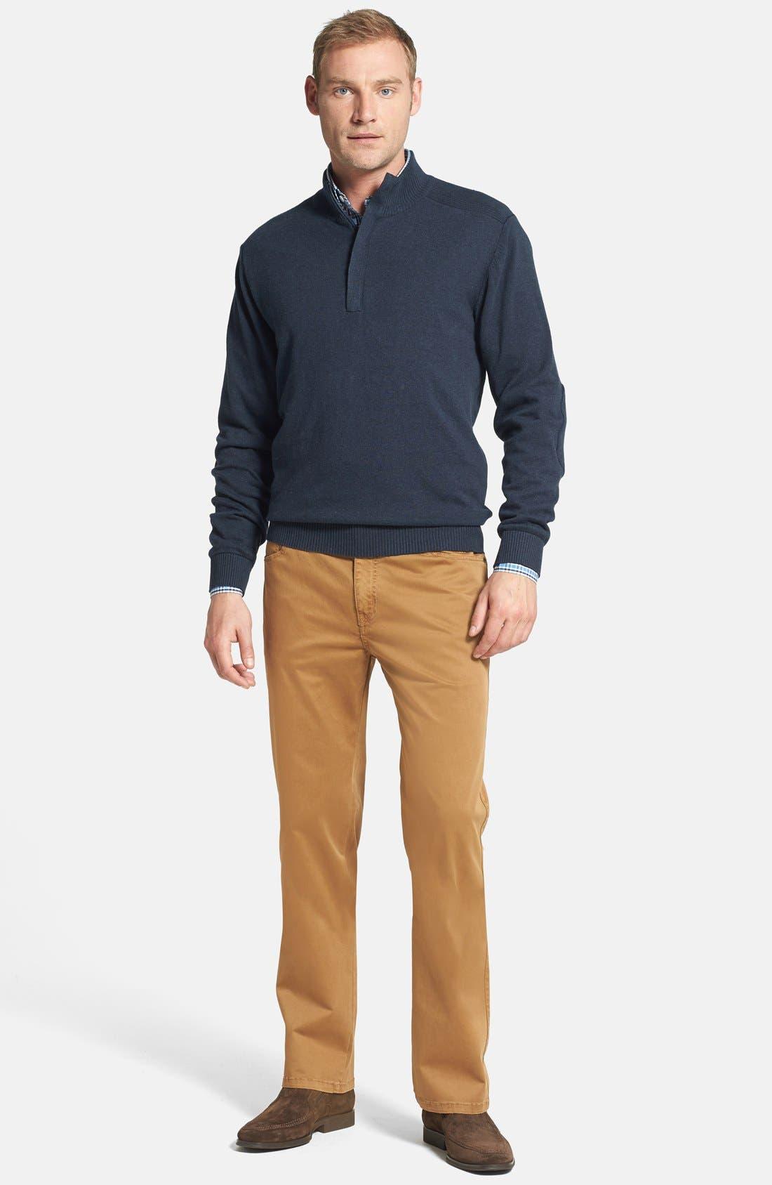 CUTTER & BUCK,                             Broadview Half Zip Sweater,                             Alternate thumbnail 6, color,                             480