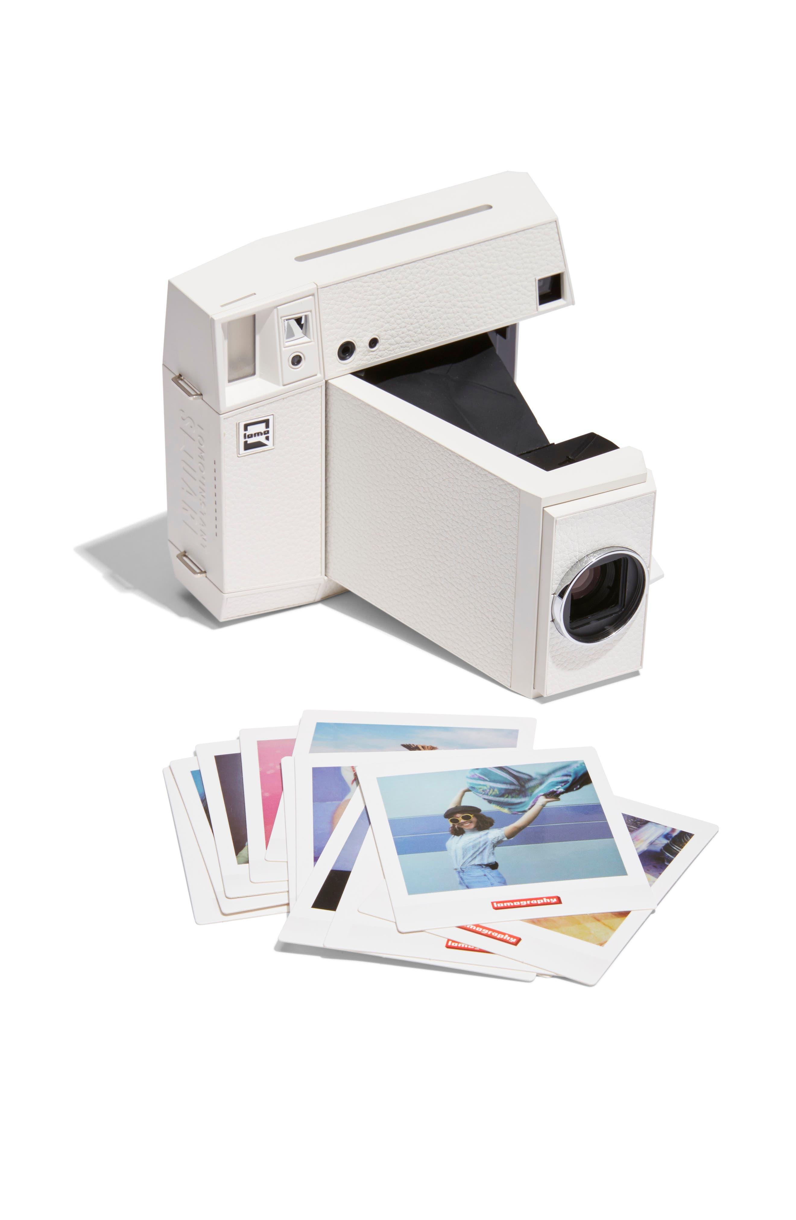 Lomo'Instant Square Glass Black Edition Instant Camera,                             Main thumbnail 1, color,                             WHITE