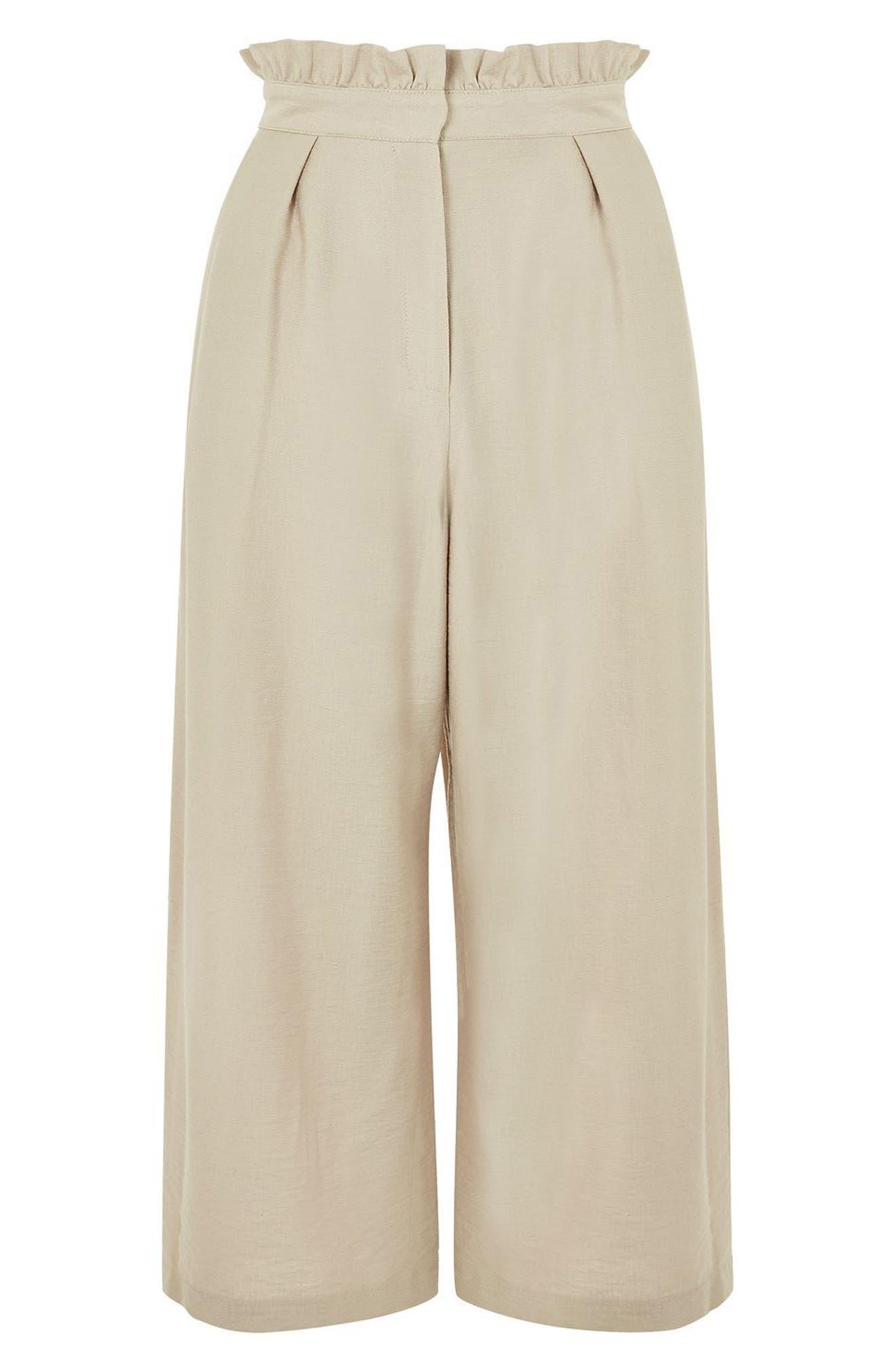 Ruffle Waist Trousers,                             Alternate thumbnail 6, color,