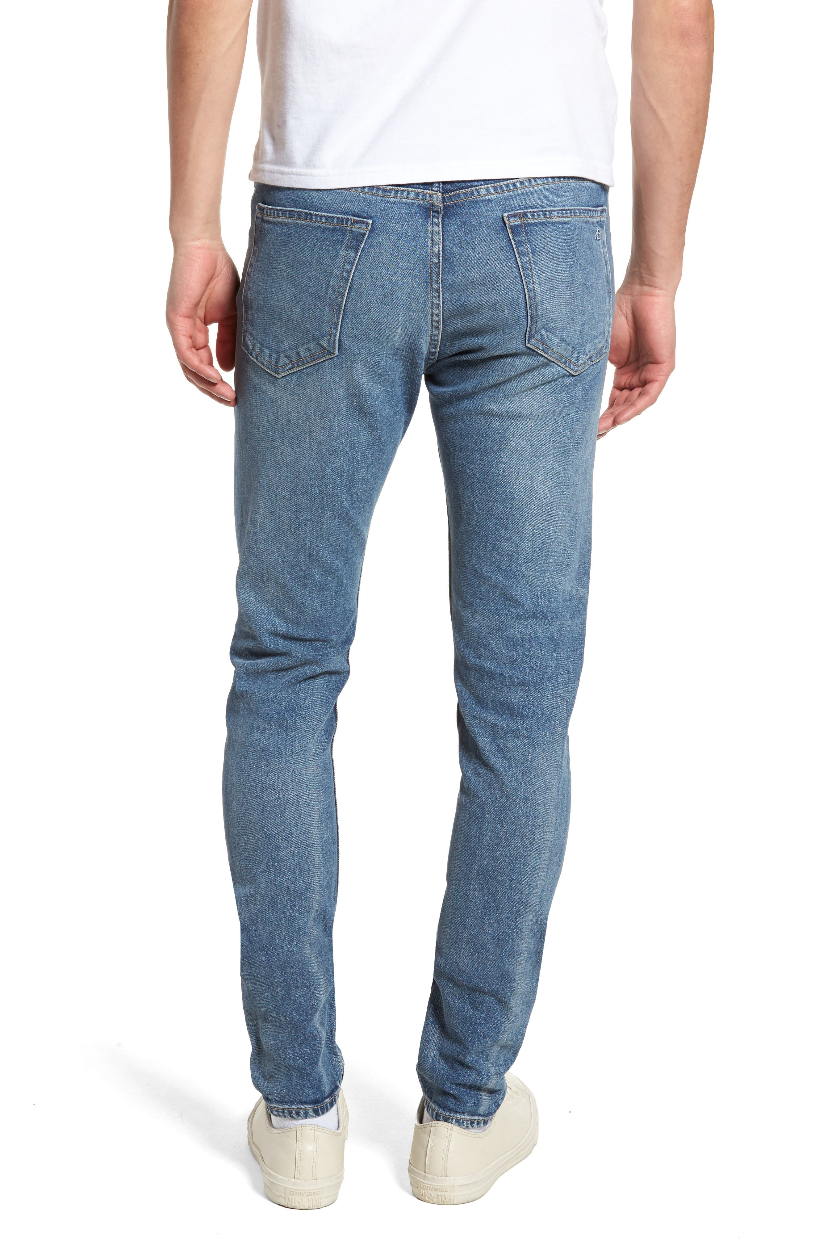 Fit 1 Skinny Fit Jeans,                             Alternate thumbnail 2, color,                             BRIGHTON