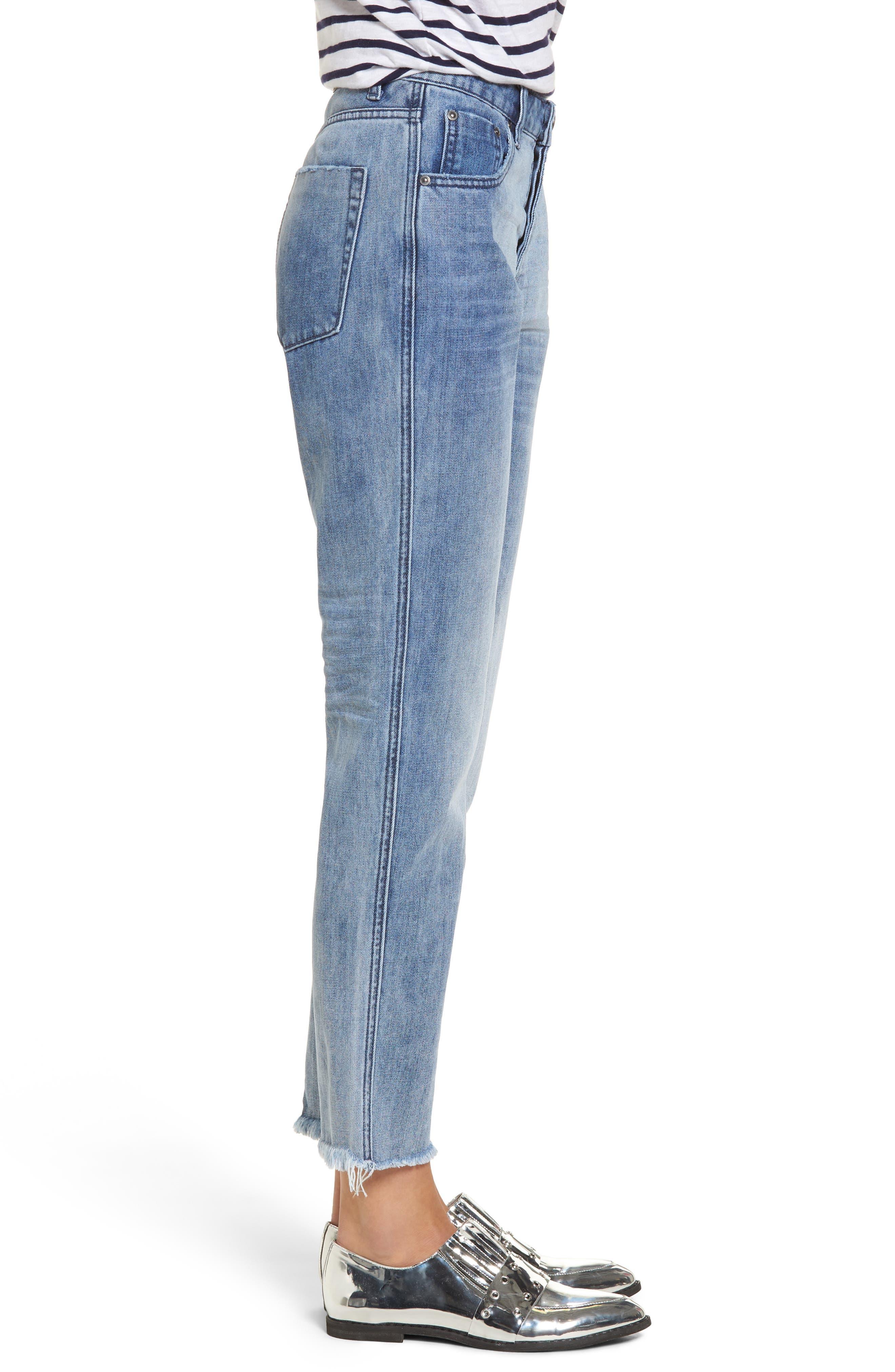 Tuckers High Waist Straight Leg Jeans,                             Alternate thumbnail 3, color,