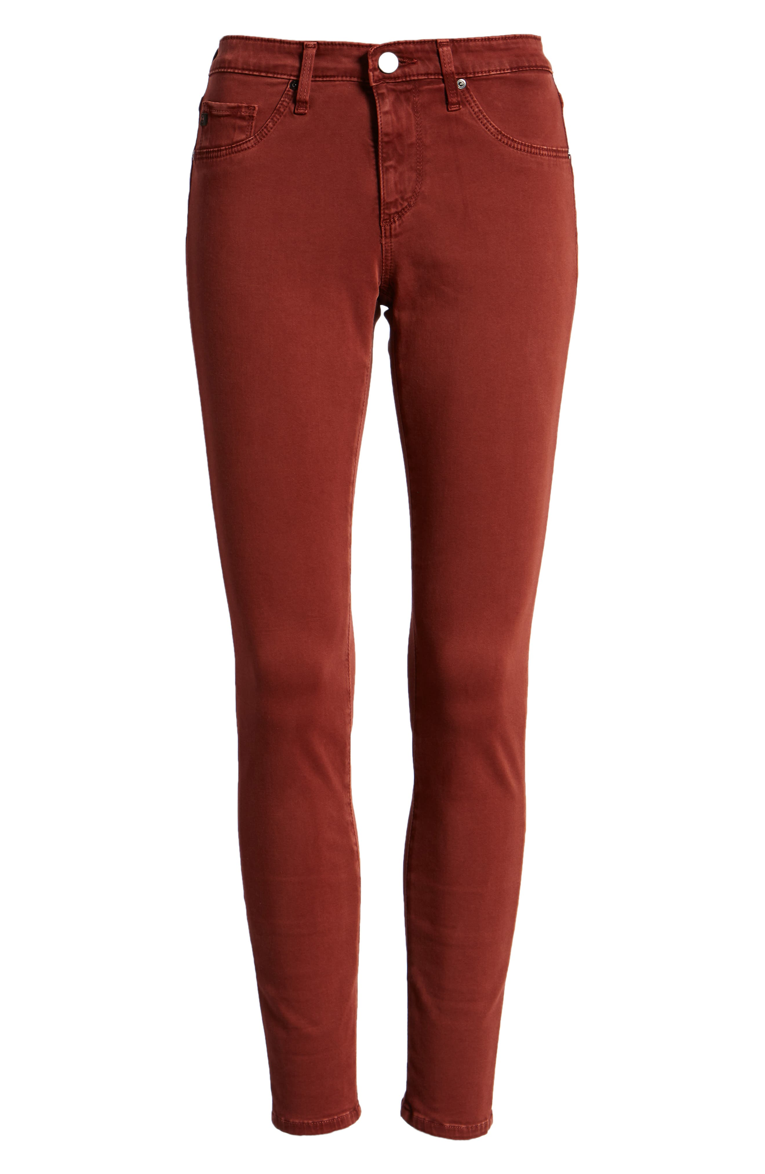 The Legging Ankle Jeans,                             Alternate thumbnail 7, color,                             SULFUR TANNIC RED