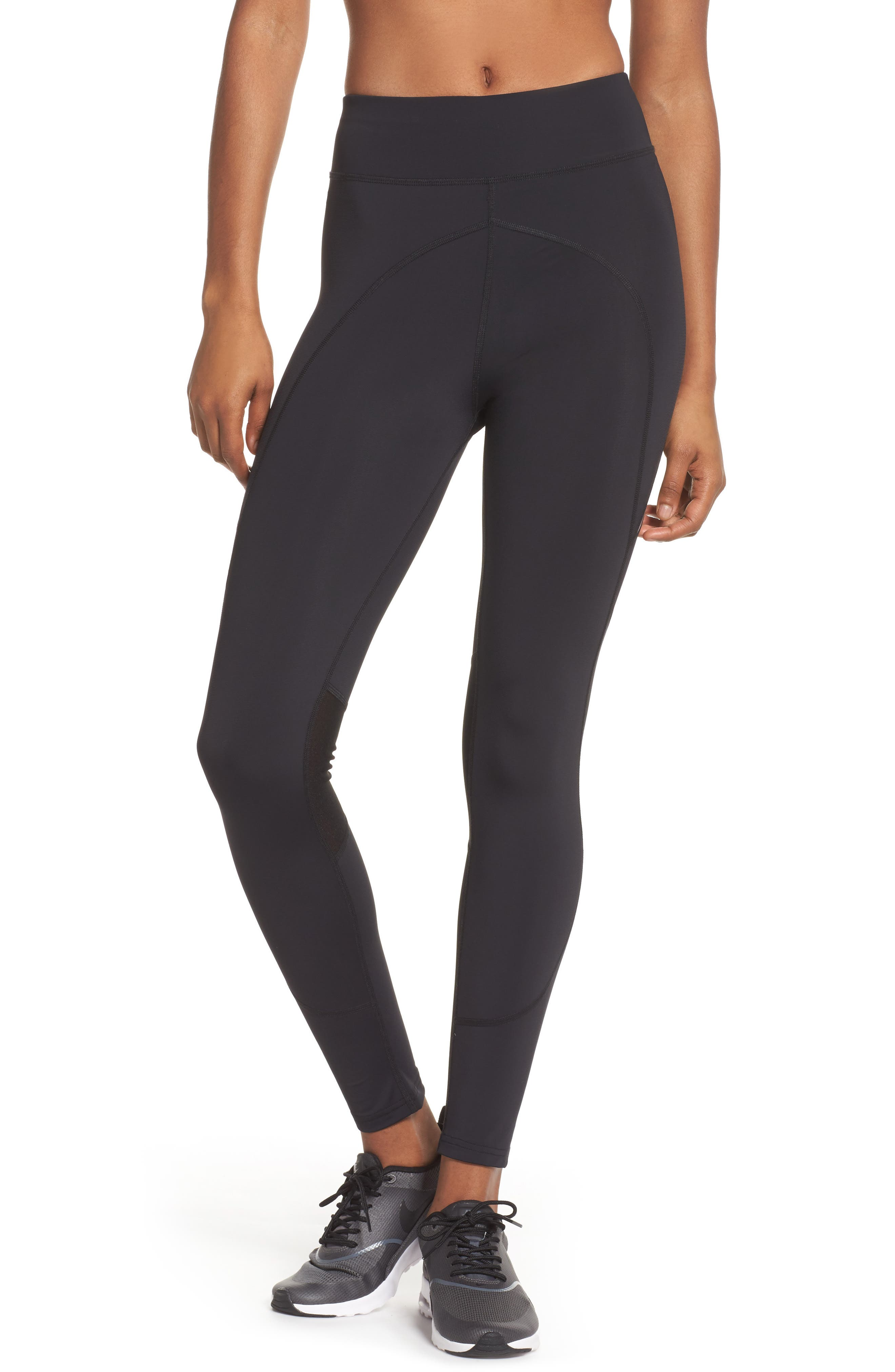 BoomBoom Athletica High Compression Sport Leggings,                             Main thumbnail 1, color,                             005