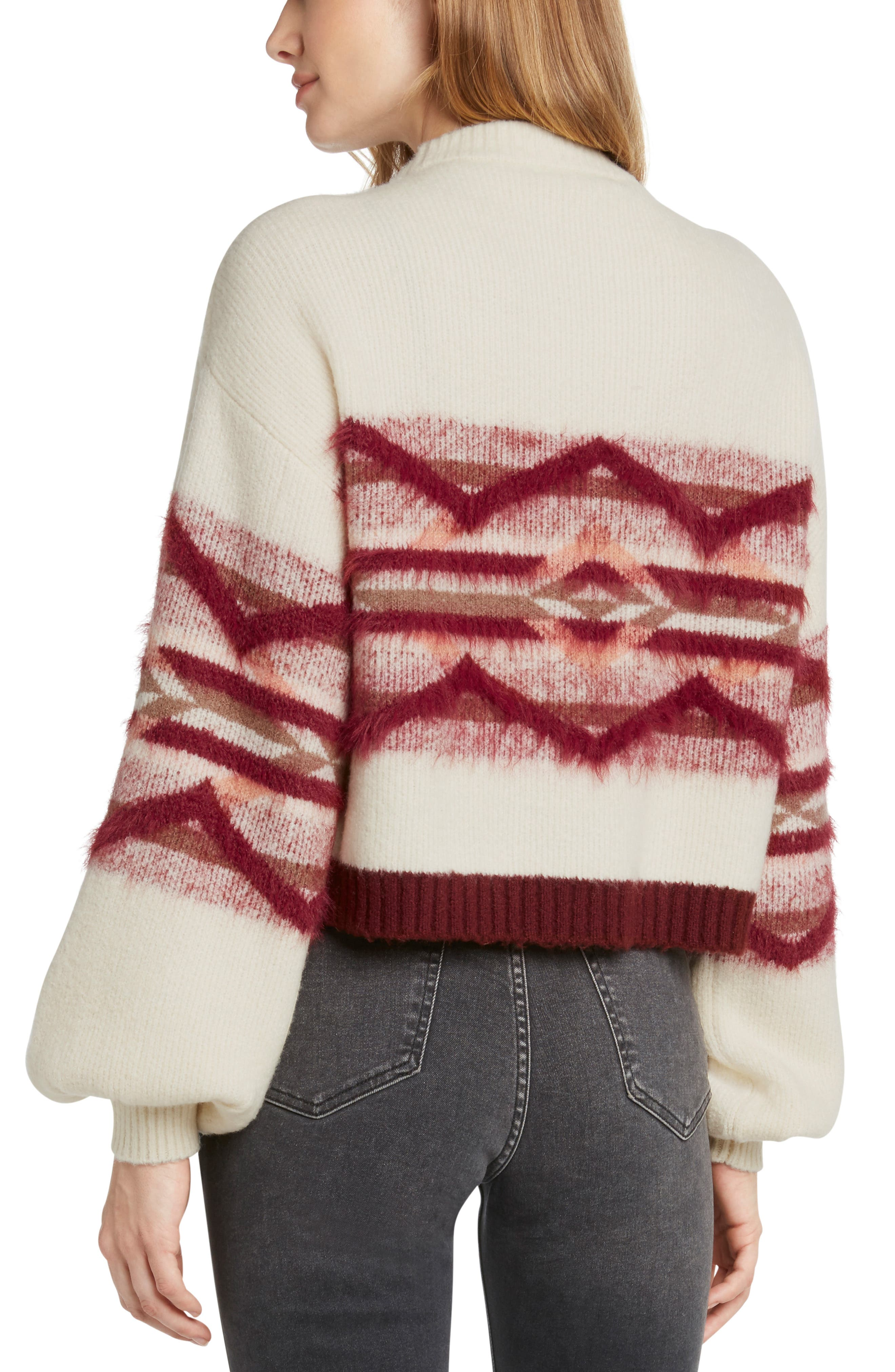 Geo Knit Sweater,                             Alternate thumbnail 2, color,                             900