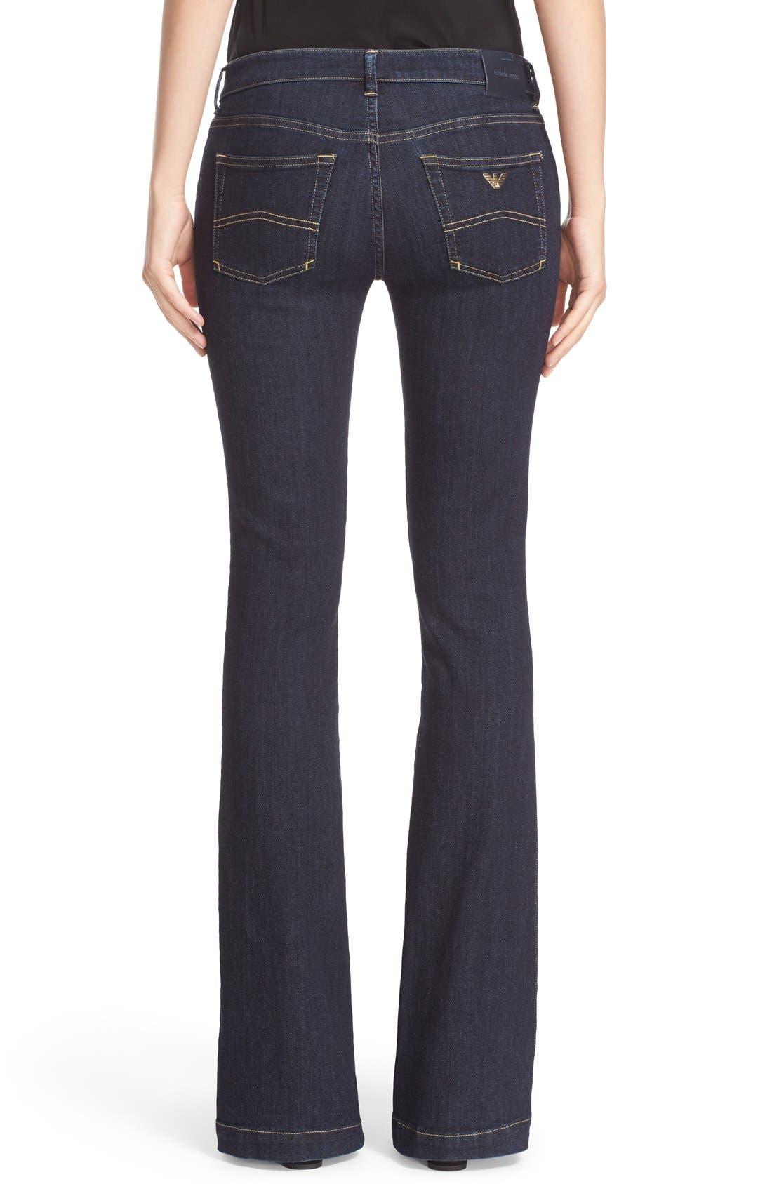 Armani Jeans Bootcut Jeans,                             Alternate thumbnail 6, color,                             400