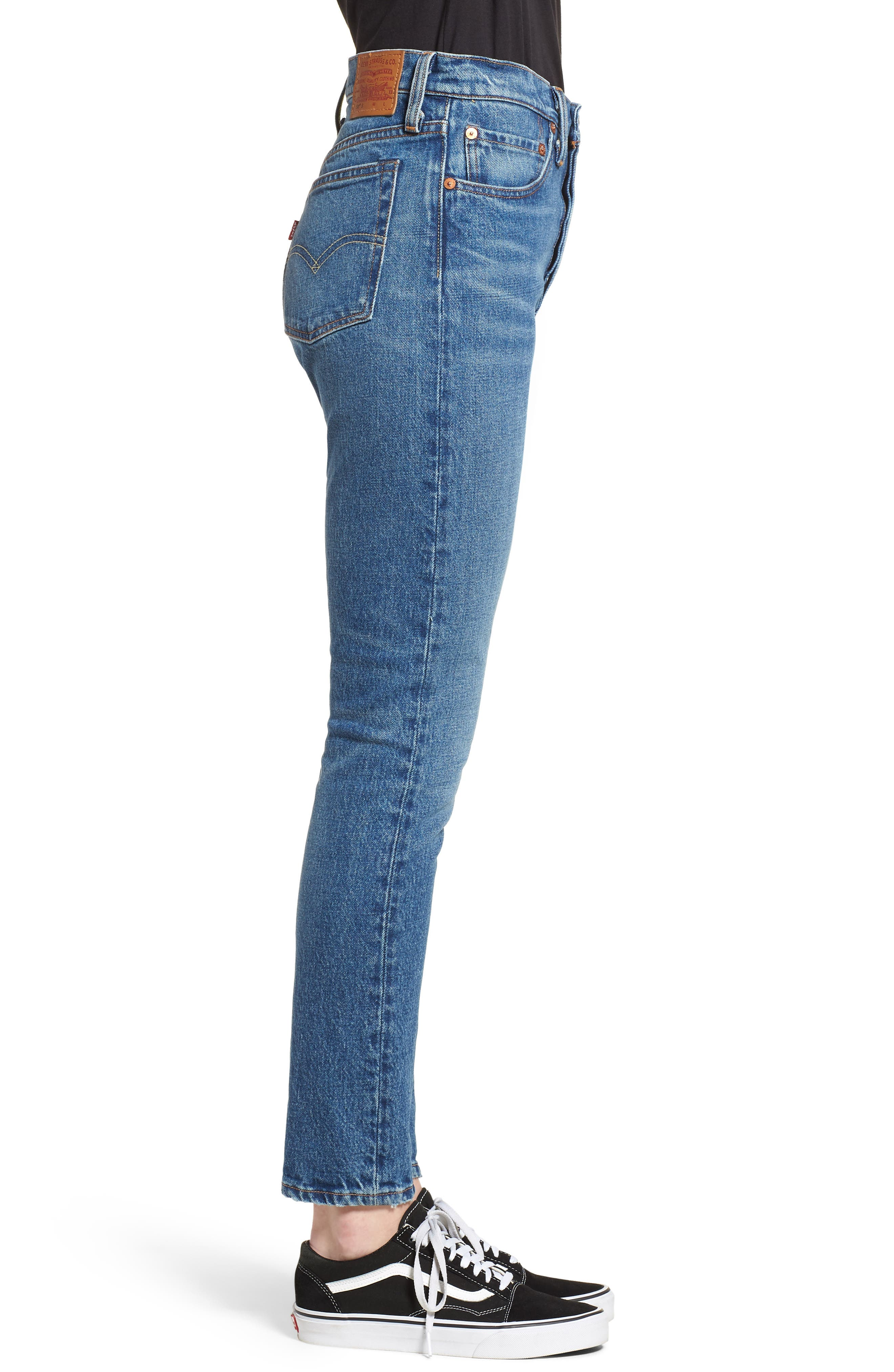 501<sup>™</sup> High Waist Skinny Jeans,                             Alternate thumbnail 3, color,                             WE THE PEOPLE