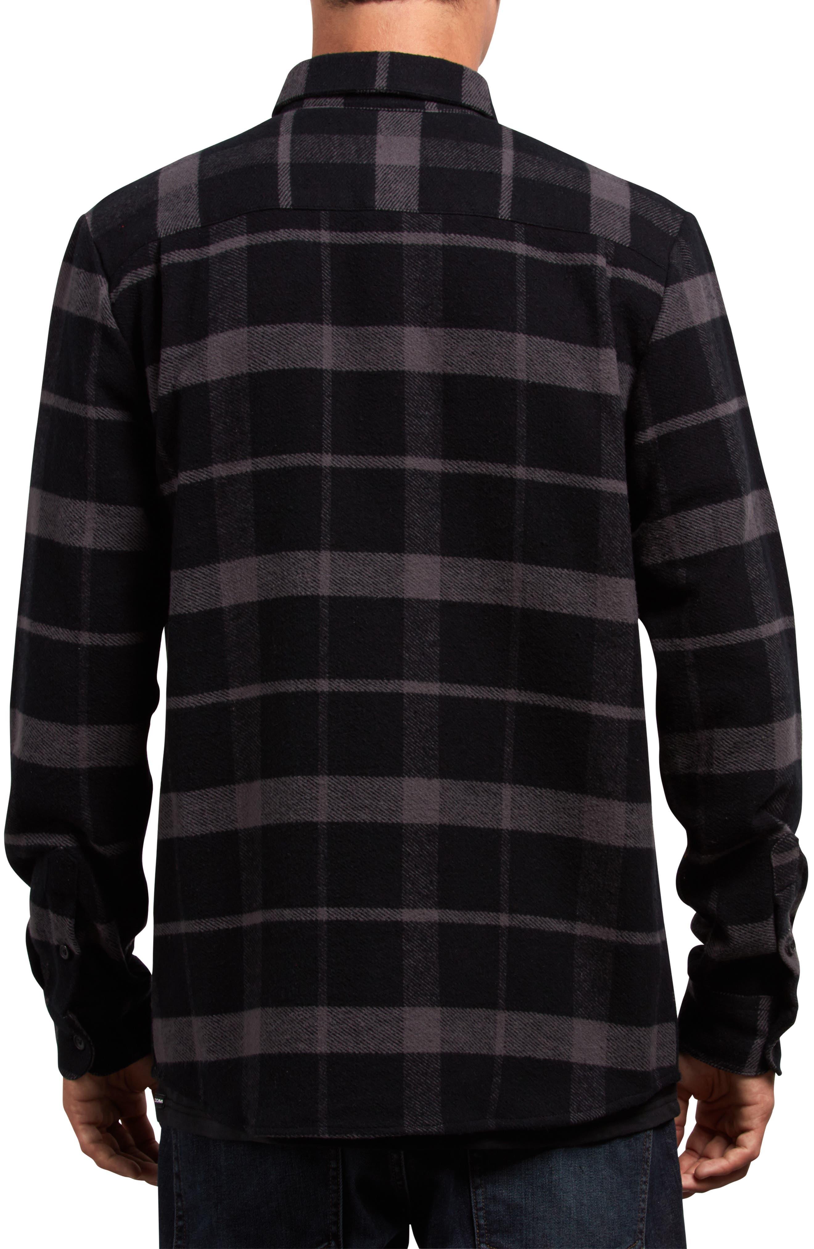 Shader Flannel Shirt,                             Alternate thumbnail 2, color,                             001