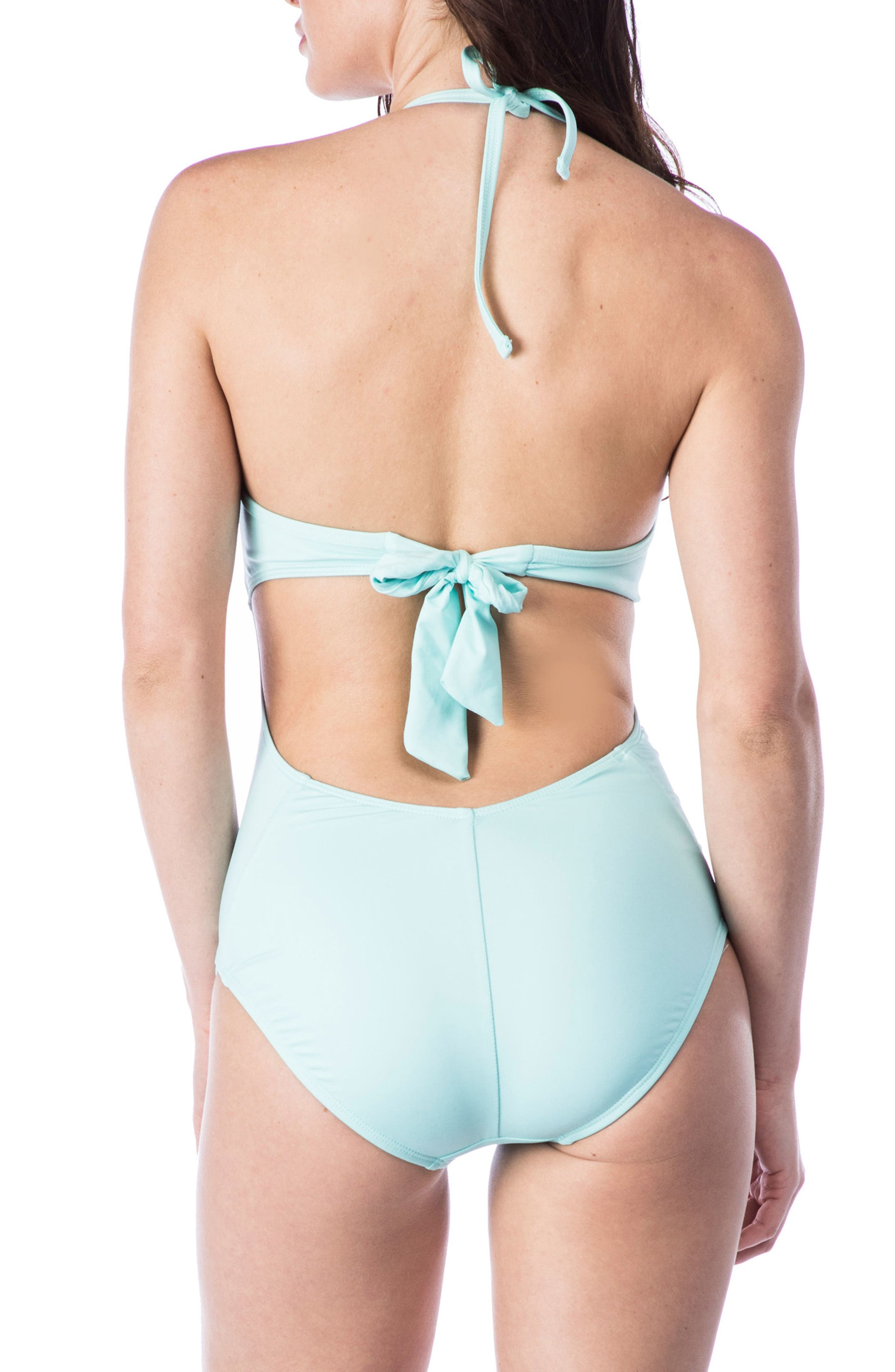 Push-Up One-Piece Swimsuit,                             Alternate thumbnail 8, color,