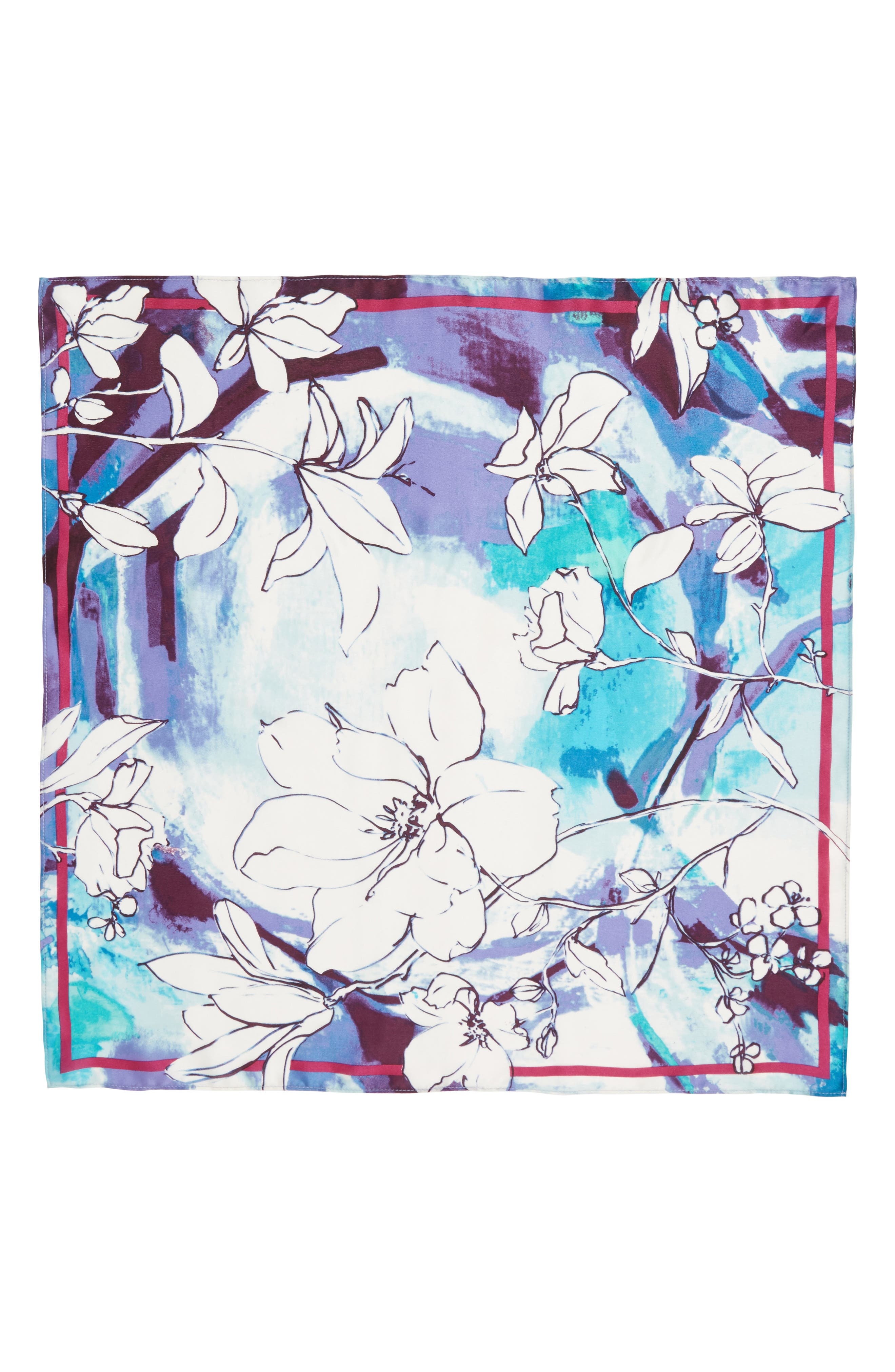 Print Silk Scarf,                             Alternate thumbnail 19, color,