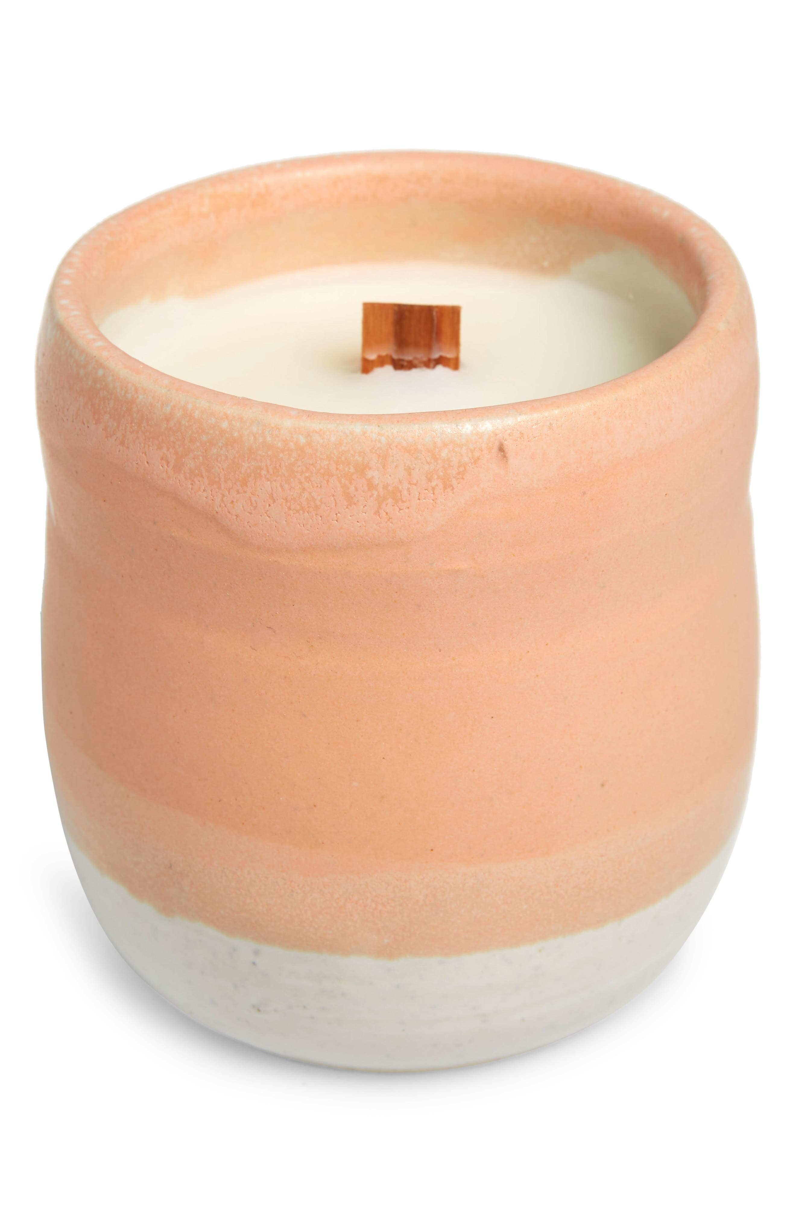 COZIER,                             Aura Gardenia & Lemongrass Candle,                             Main thumbnail 1, color,                             PINK
