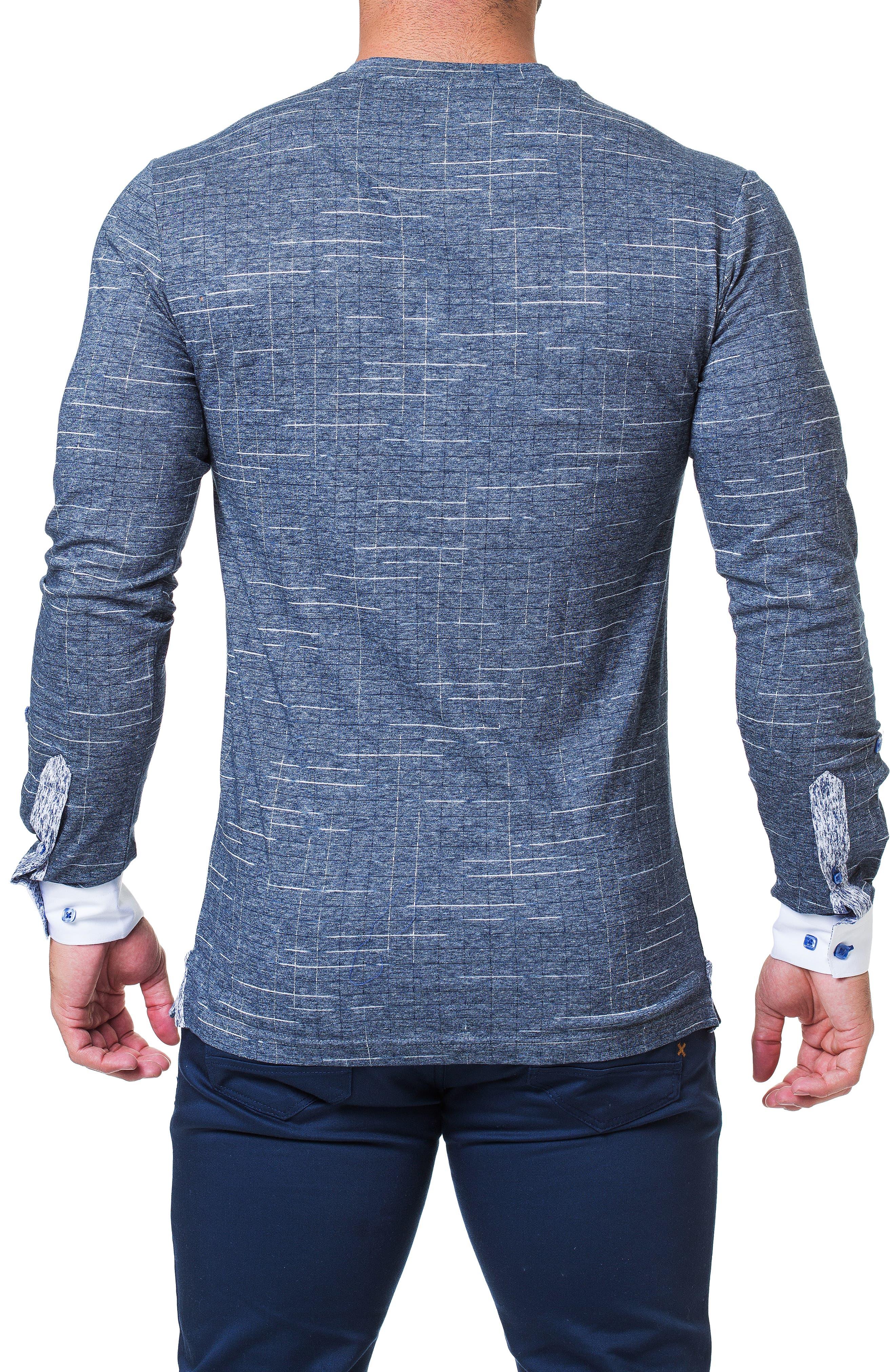 Edison Trim Fit Check T-Shirt,                             Alternate thumbnail 2, color,                             BLUE