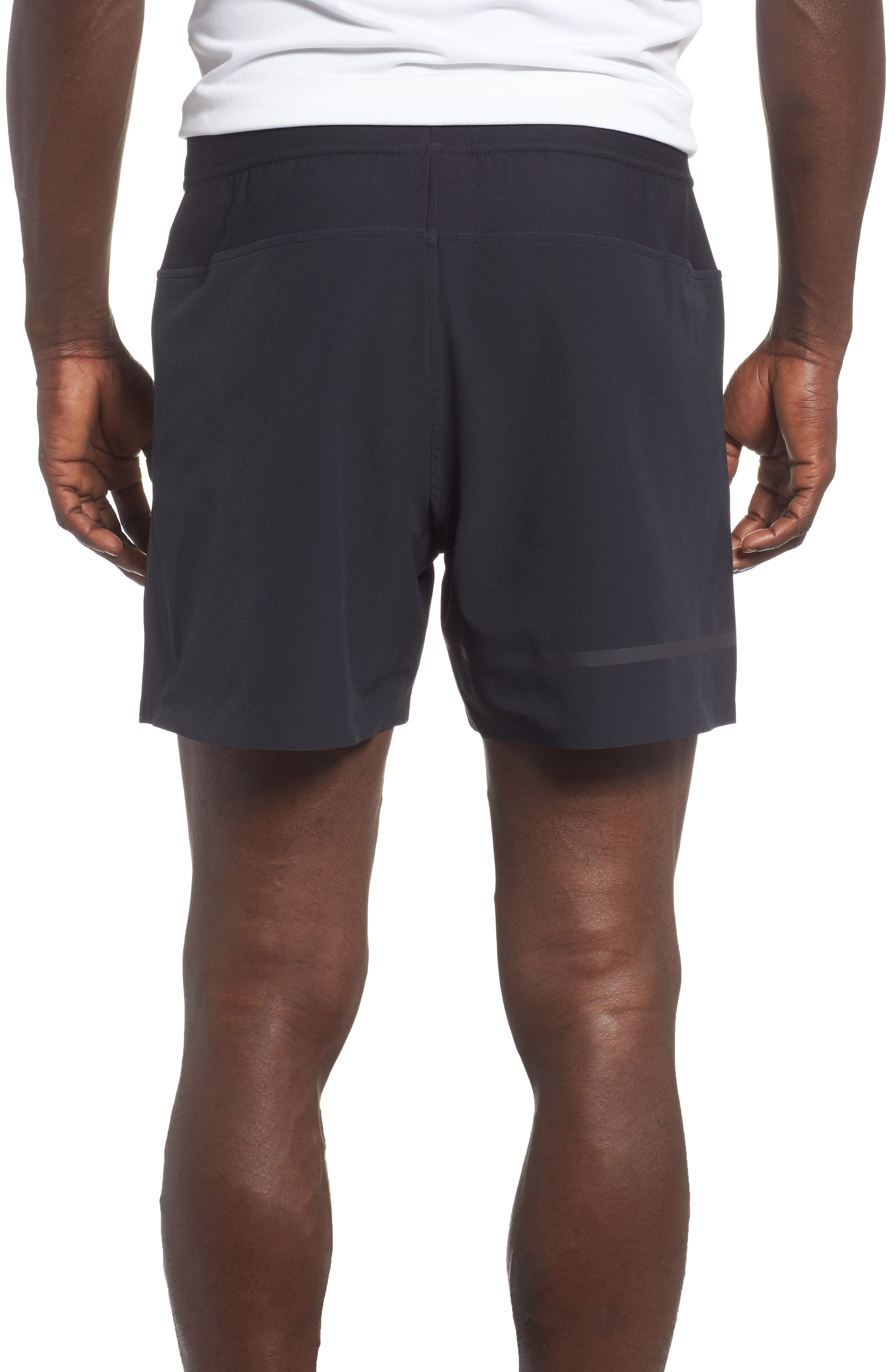 Perpetual Fitted Shorts,                             Alternate thumbnail 2, color,                             BLACK