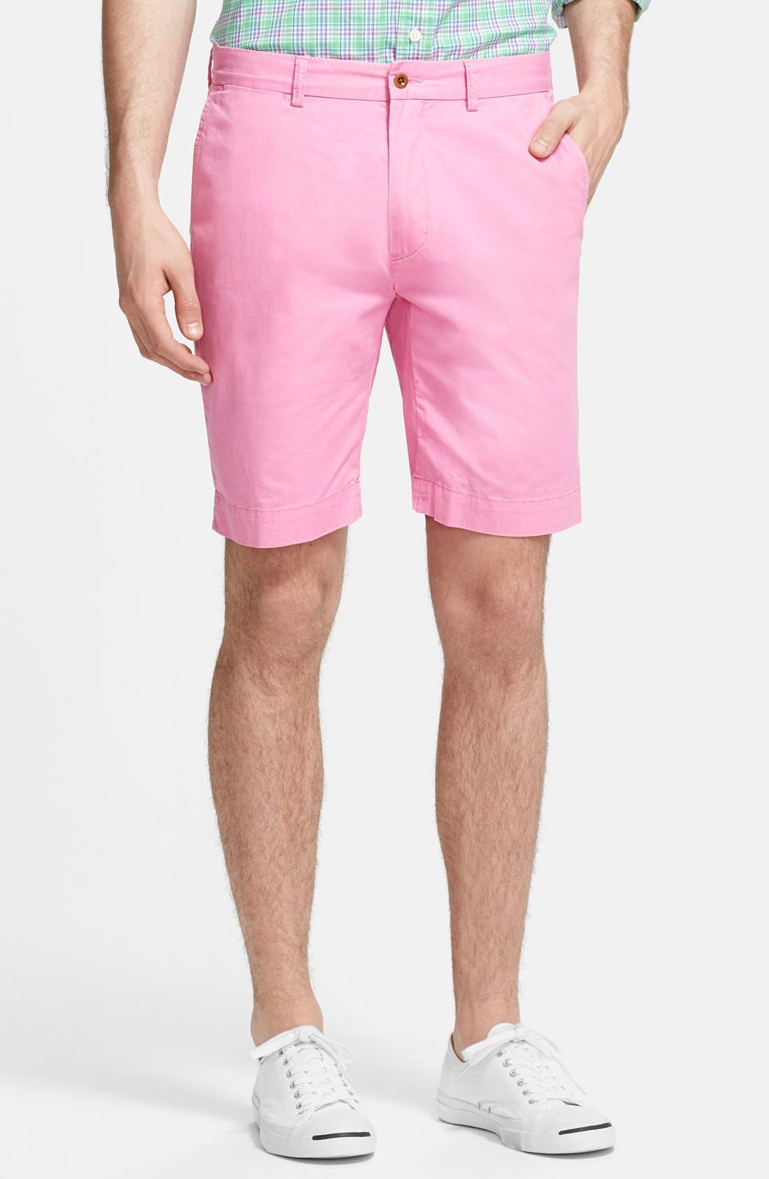 'Hudson' Flat Front Classic Fit Chino Shorts, Main, color, 670