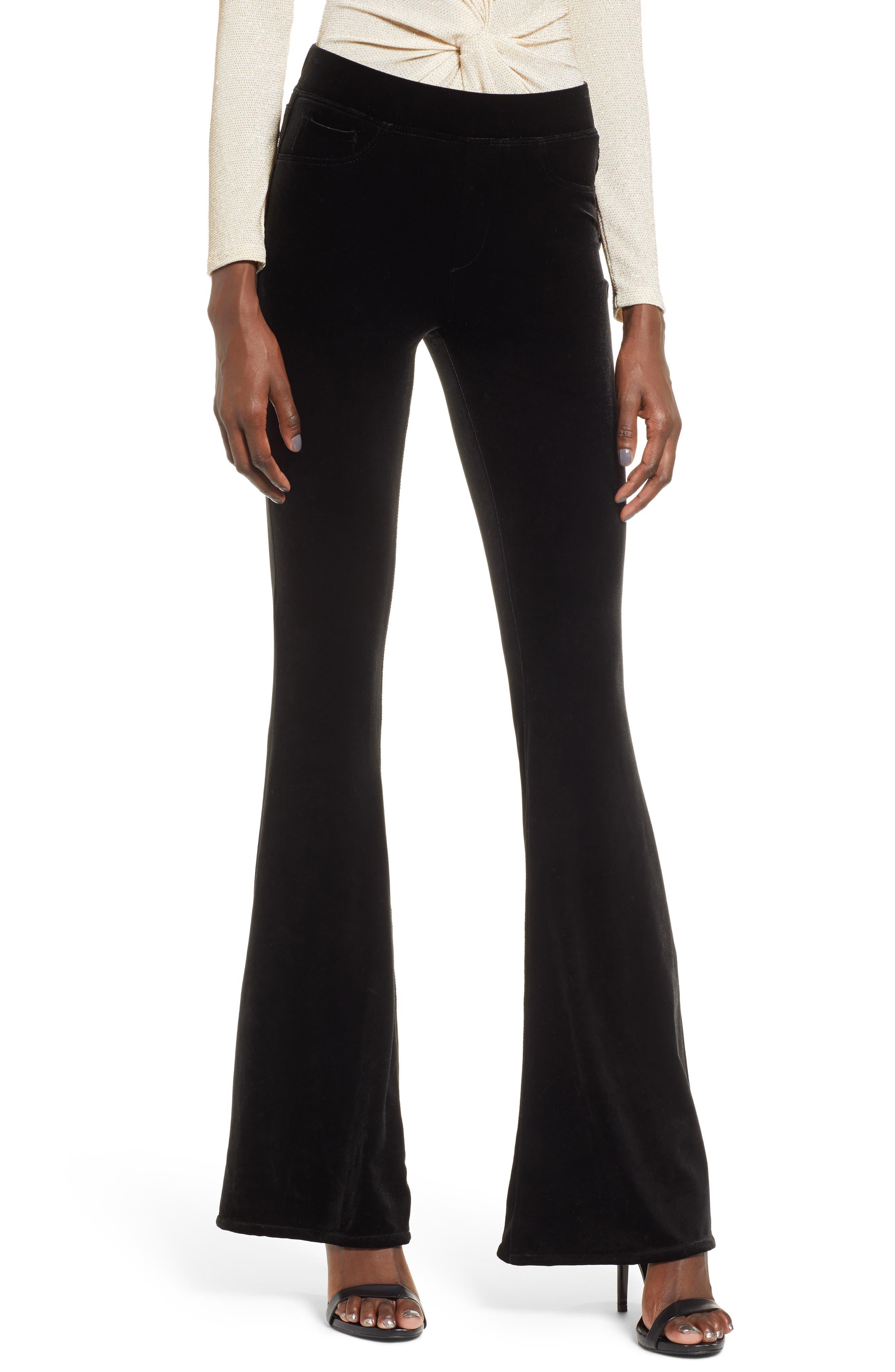 Blanknyc Velvet Flare Pants, Black